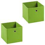 Stoffbox ELA faltbar 2er Pack grün