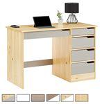 Schreibtisch HUGO in Kiefer massiv Farbauswahl