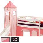 Turm MAX zu Bett mit Rutsche, in 4 Farben