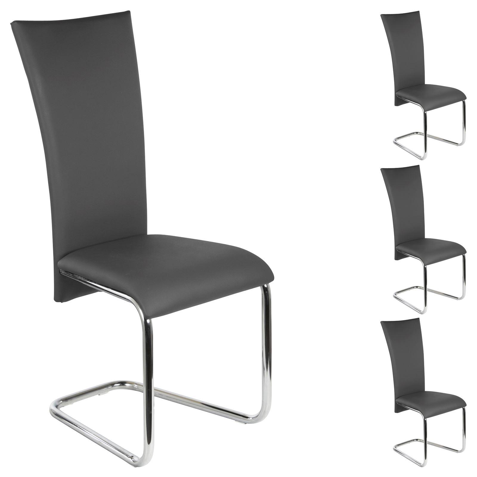 schwingstuhl esszimmerstuhl freischwinger 4er set. Black Bedroom Furniture Sets. Home Design Ideas