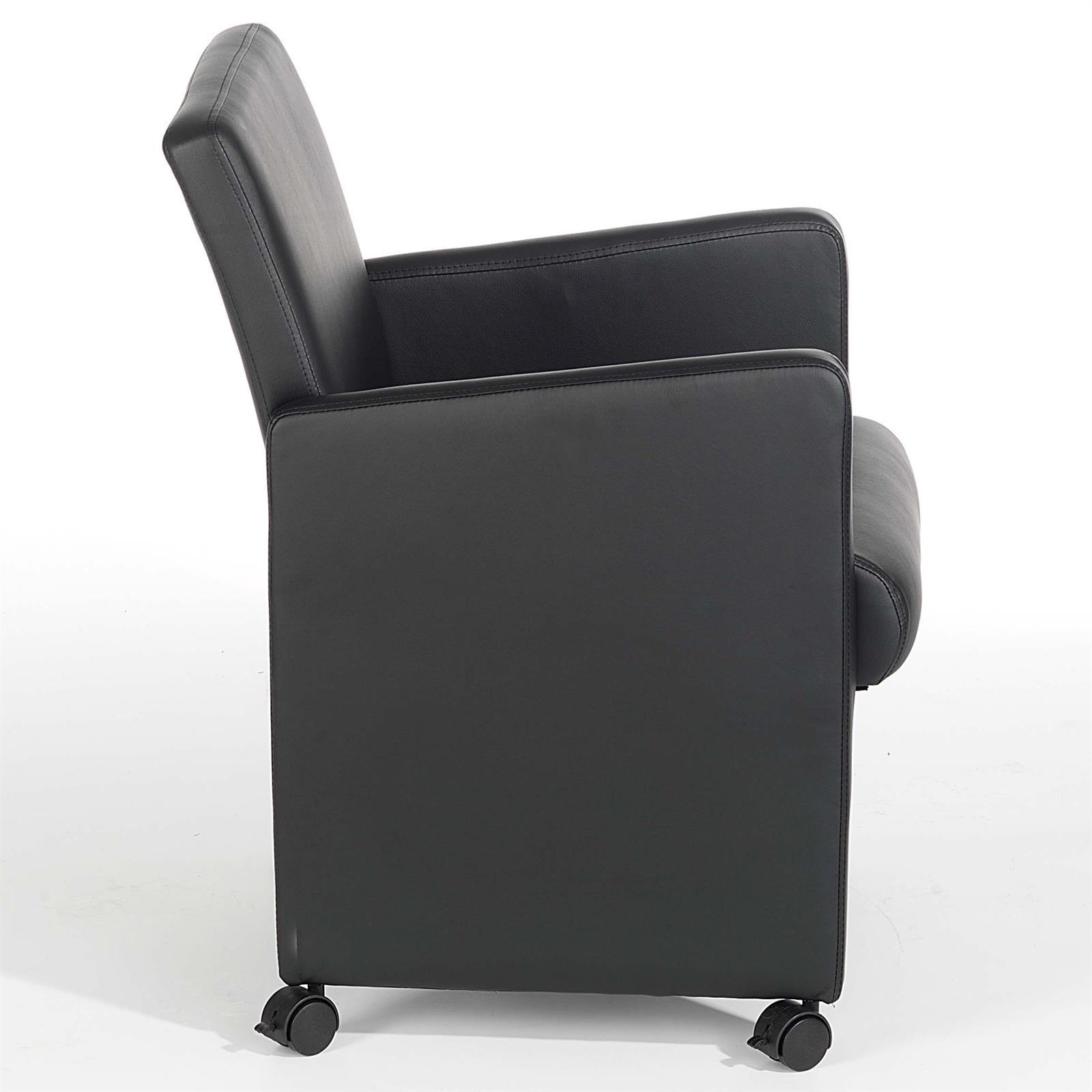 sessel antonia auf rollen in schwarz mobilia24. Black Bedroom Furniture Sets. Home Design Ideas