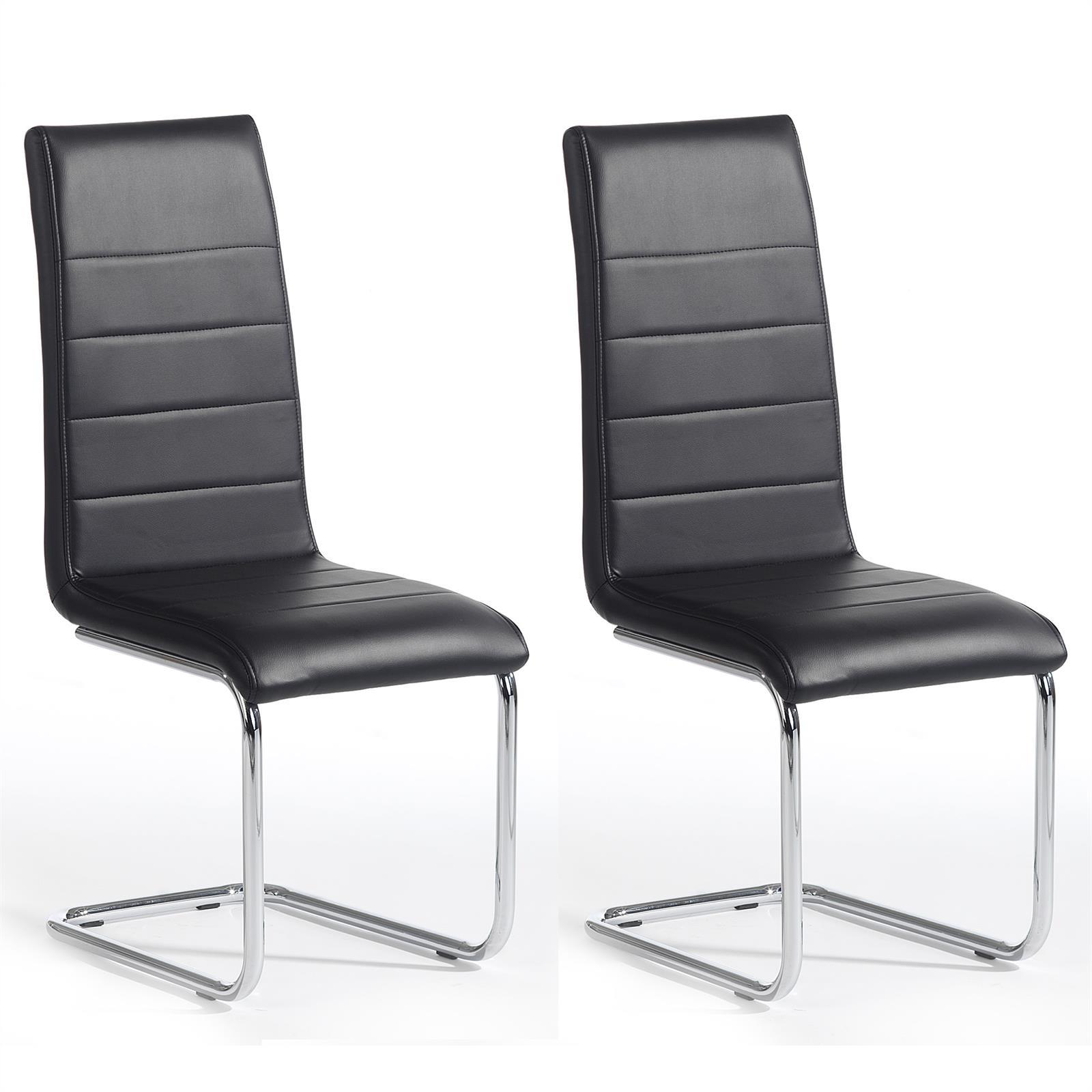schwingstuhl leni freischwinger schwarz mobilia24. Black Bedroom Furniture Sets. Home Design Ideas