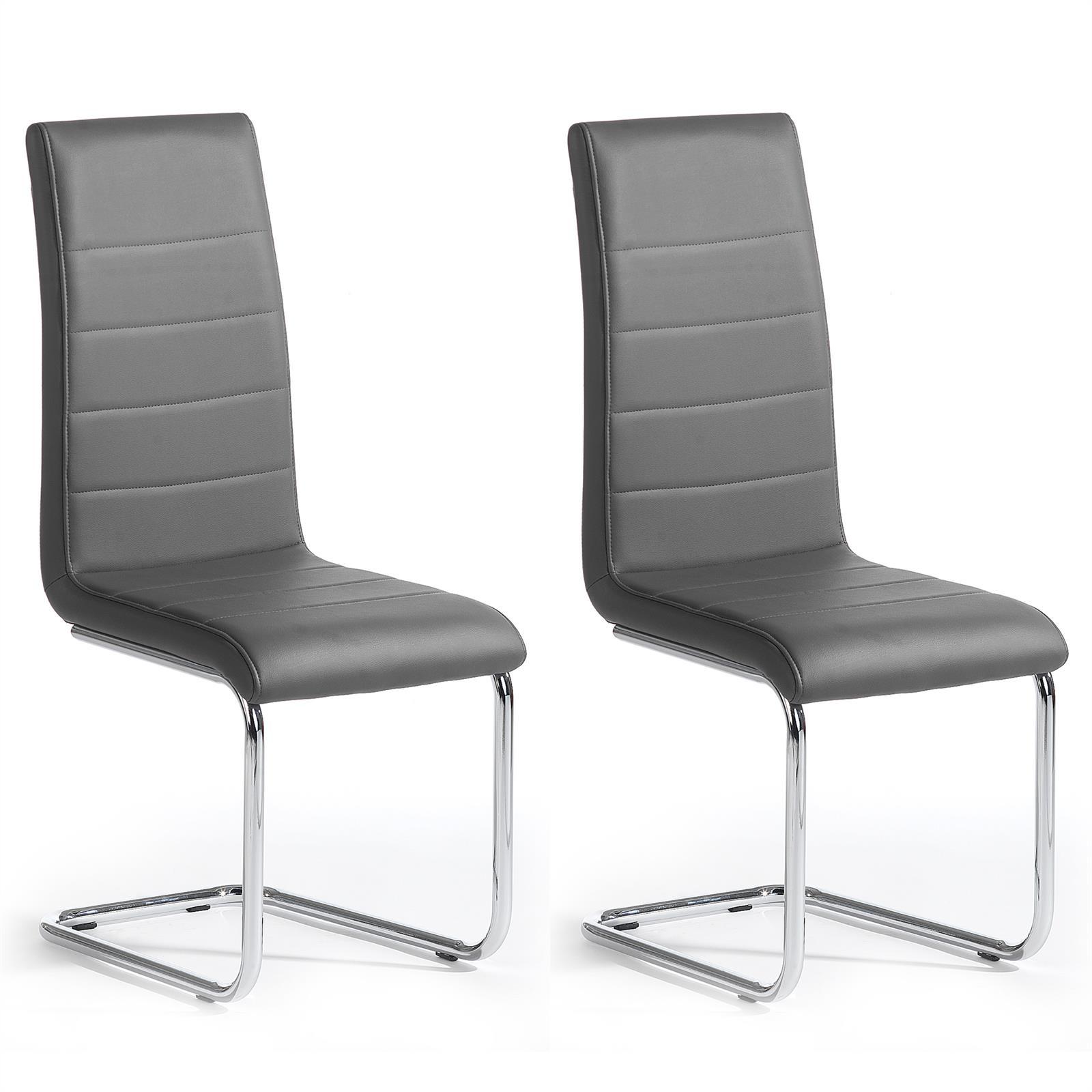 schwingstuhl leni freischwinger grau mobilia24. Black Bedroom Furniture Sets. Home Design Ideas