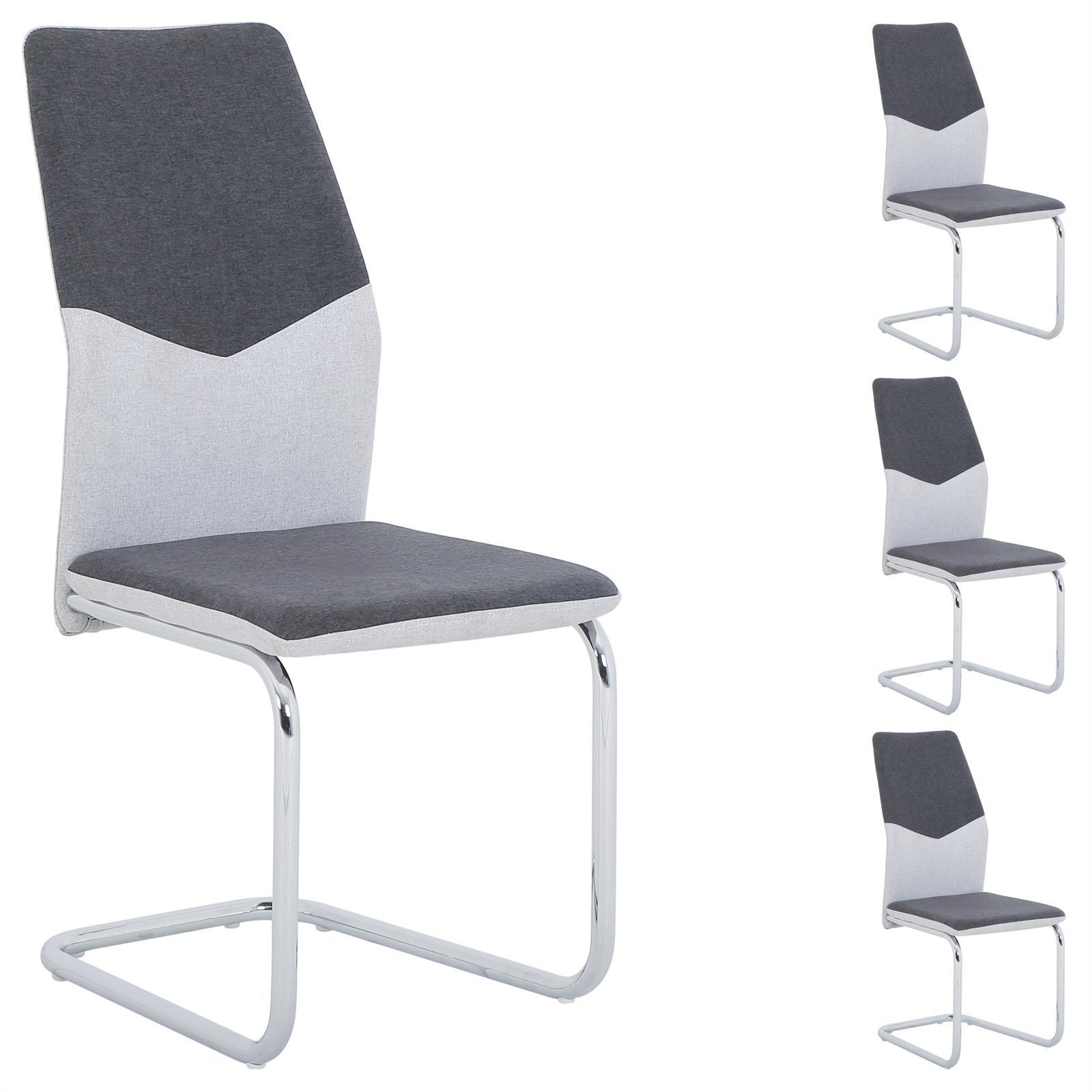 schwingstuhl leona im 4er set mit stoffbezug mobilia24. Black Bedroom Furniture Sets. Home Design Ideas