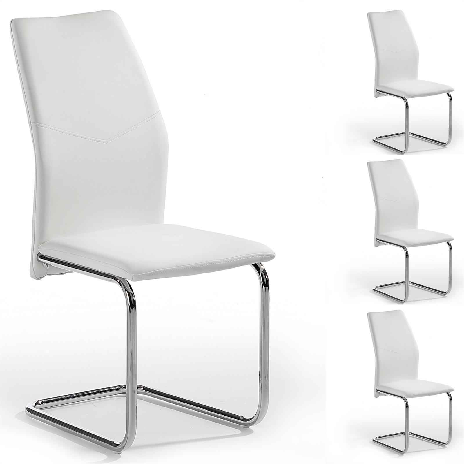 schwingstuhl leona 4er set in wei mobilia24. Black Bedroom Furniture Sets. Home Design Ideas