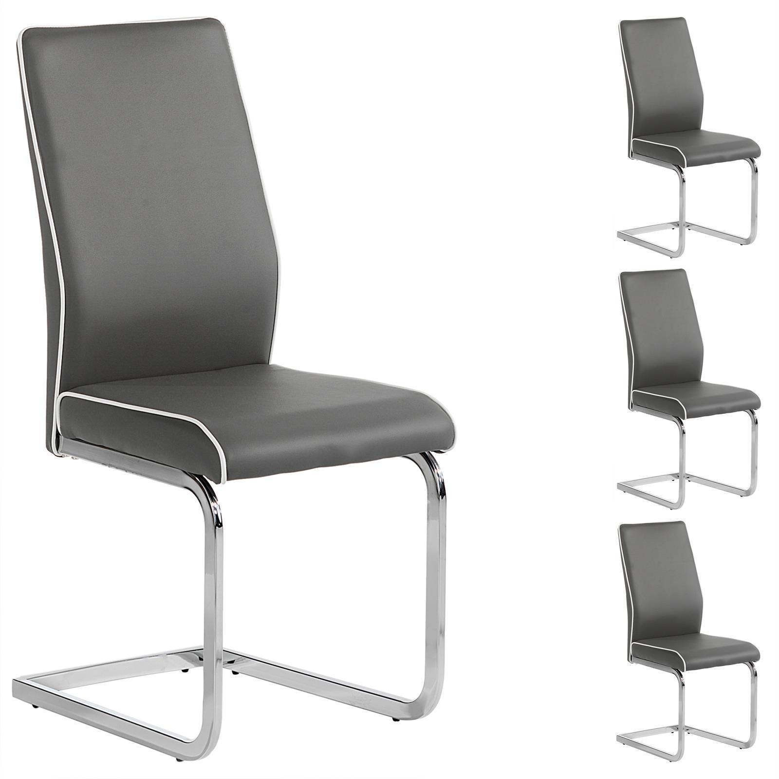 4er set schwingstuhl jimena in grau mit keder mobilia24. Black Bedroom Furniture Sets. Home Design Ideas