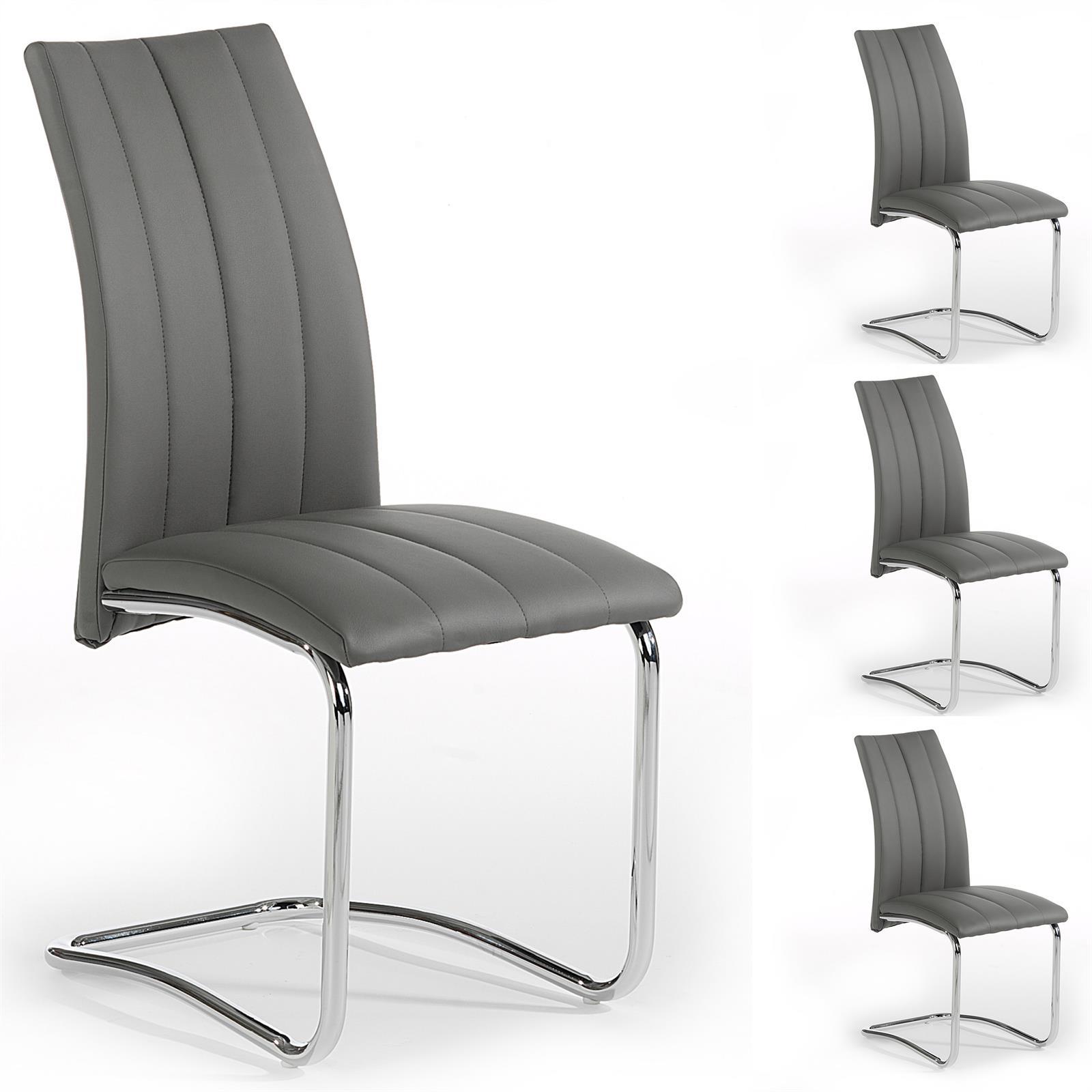 4er set esszimmerstuhl essgruppe schwingstuhl kunstleder. Black Bedroom Furniture Sets. Home Design Ideas