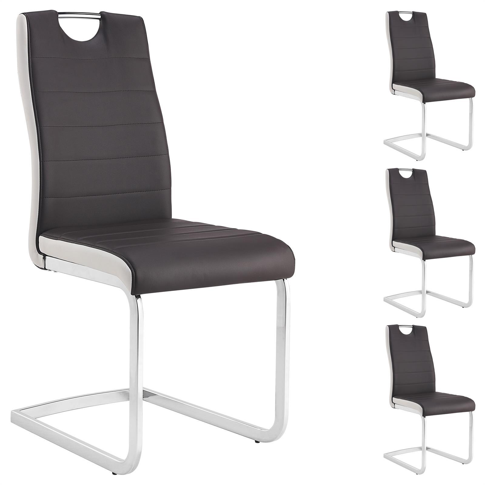 4er set schwingstuhl george braun wei mobilia24. Black Bedroom Furniture Sets. Home Design Ideas
