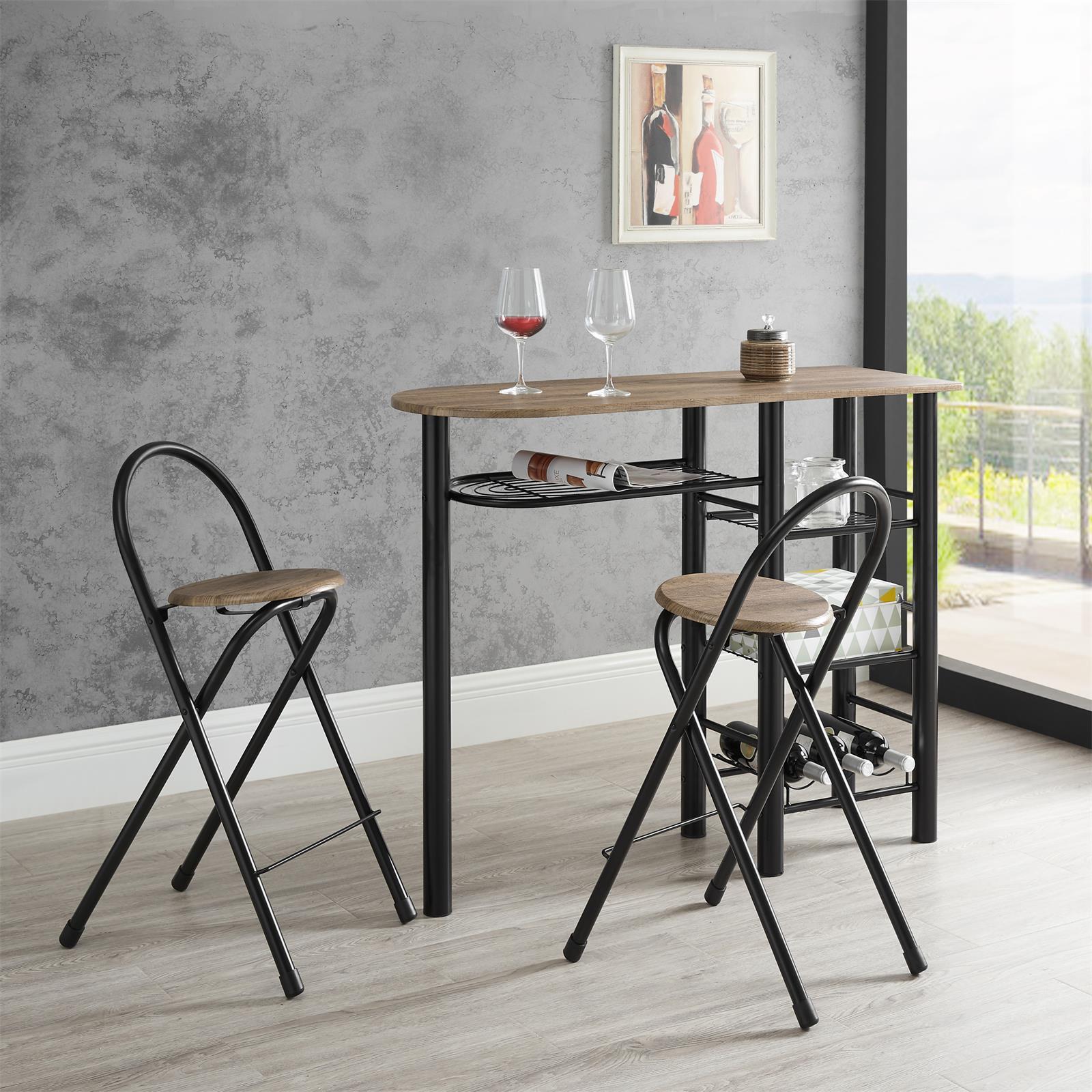 bartisch style mit 2 st hlen in wildeiche mobilia24. Black Bedroom Furniture Sets. Home Design Ideas