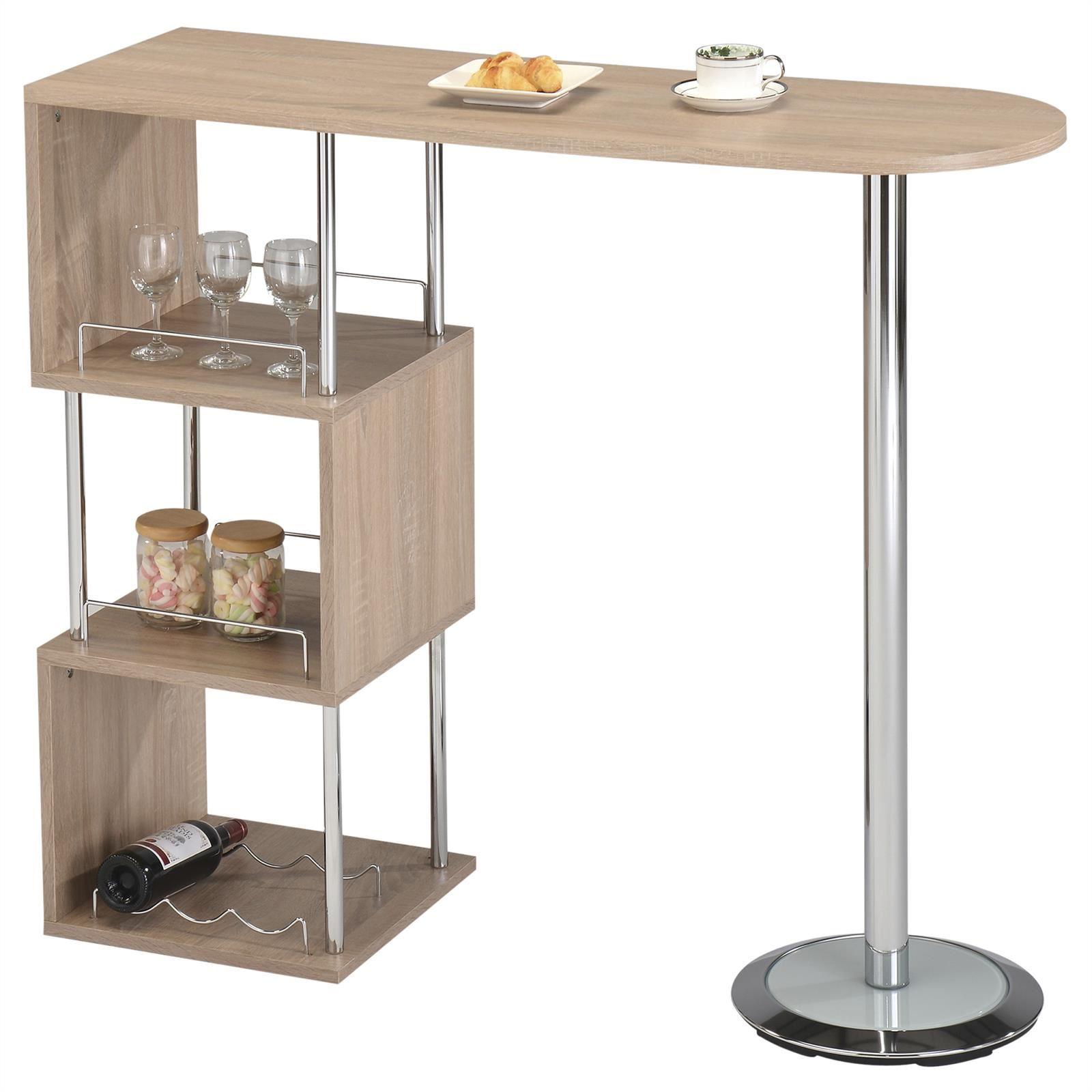 bartisch stehtisch bartresen bistrotisch tresentisch in 4 farben mit stauraum ebay. Black Bedroom Furniture Sets. Home Design Ideas