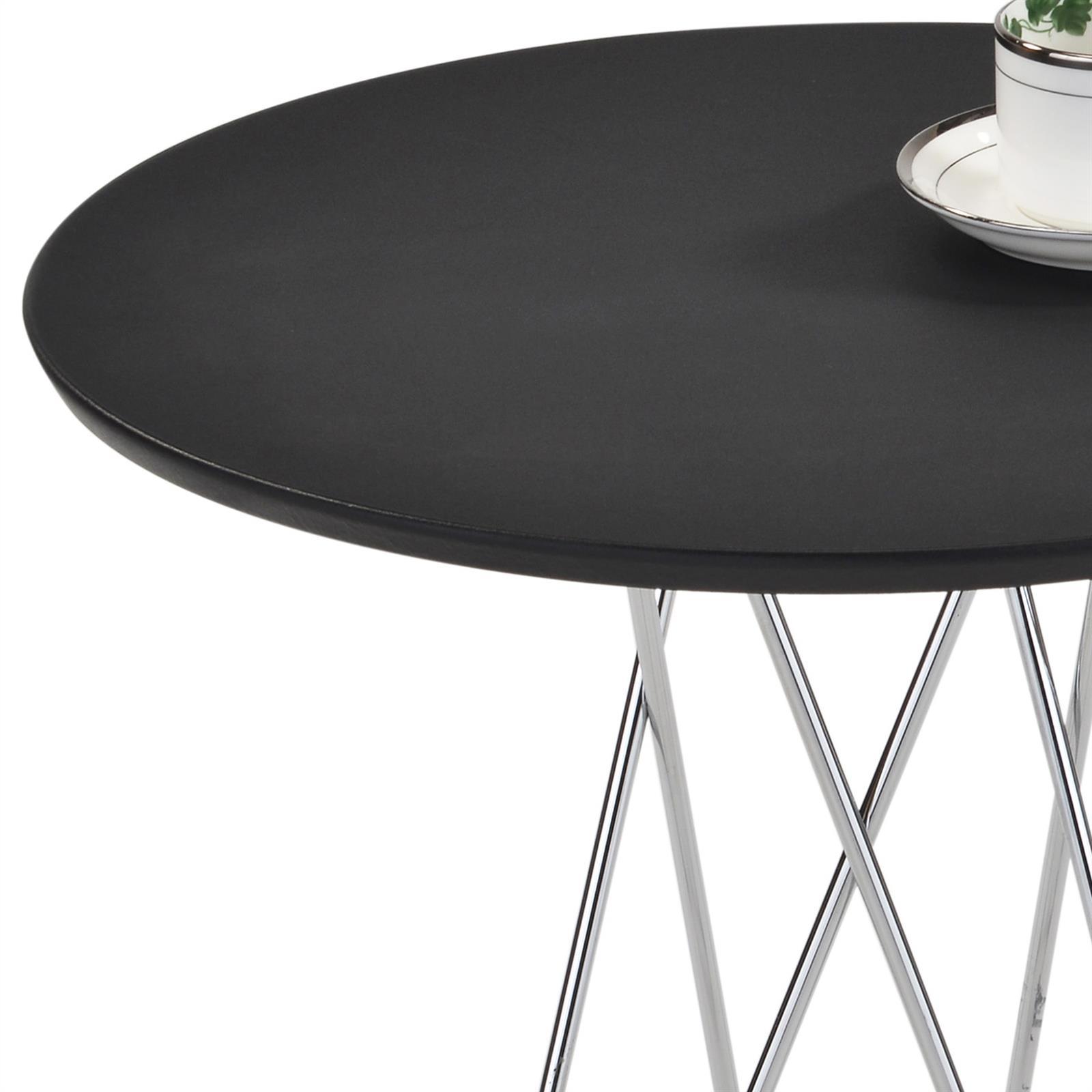 beistelltisch benno rund schwarz mobilia24. Black Bedroom Furniture Sets. Home Design Ideas