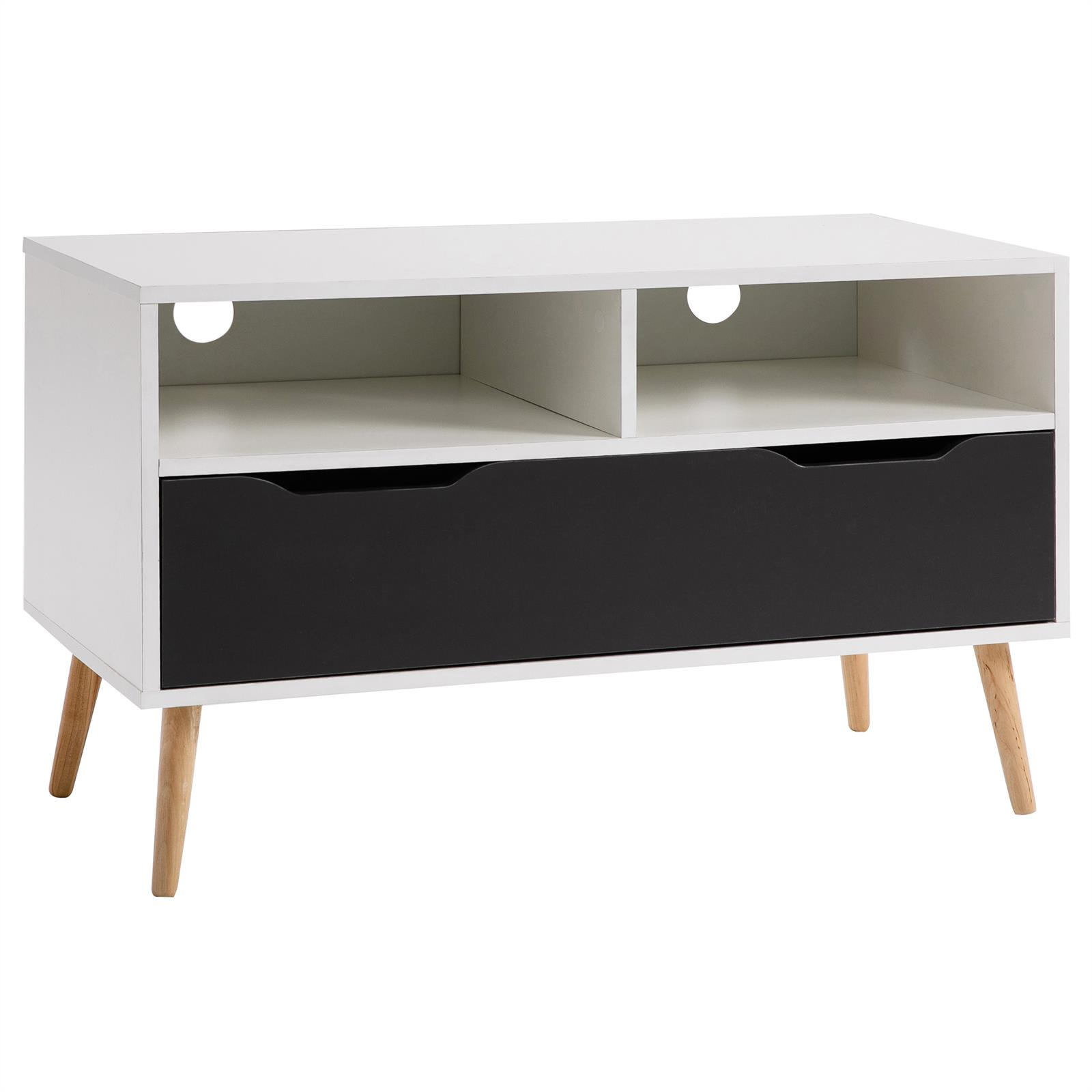 tv rack hifi m bel lowboard fernsetisch schrank wei grau 90 cm breit ebay. Black Bedroom Furniture Sets. Home Design Ideas