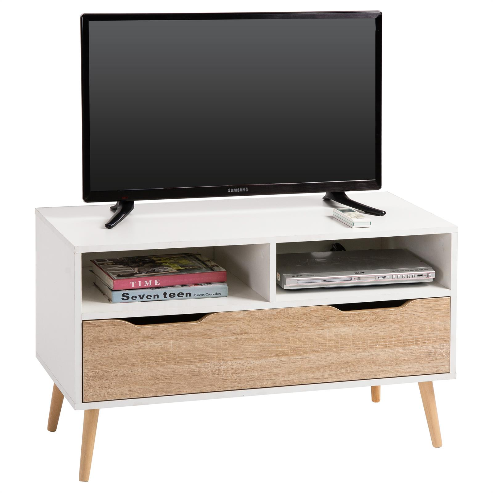 tv rack genova in wei sonoma eiche foliert mobilia24. Black Bedroom Furniture Sets. Home Design Ideas