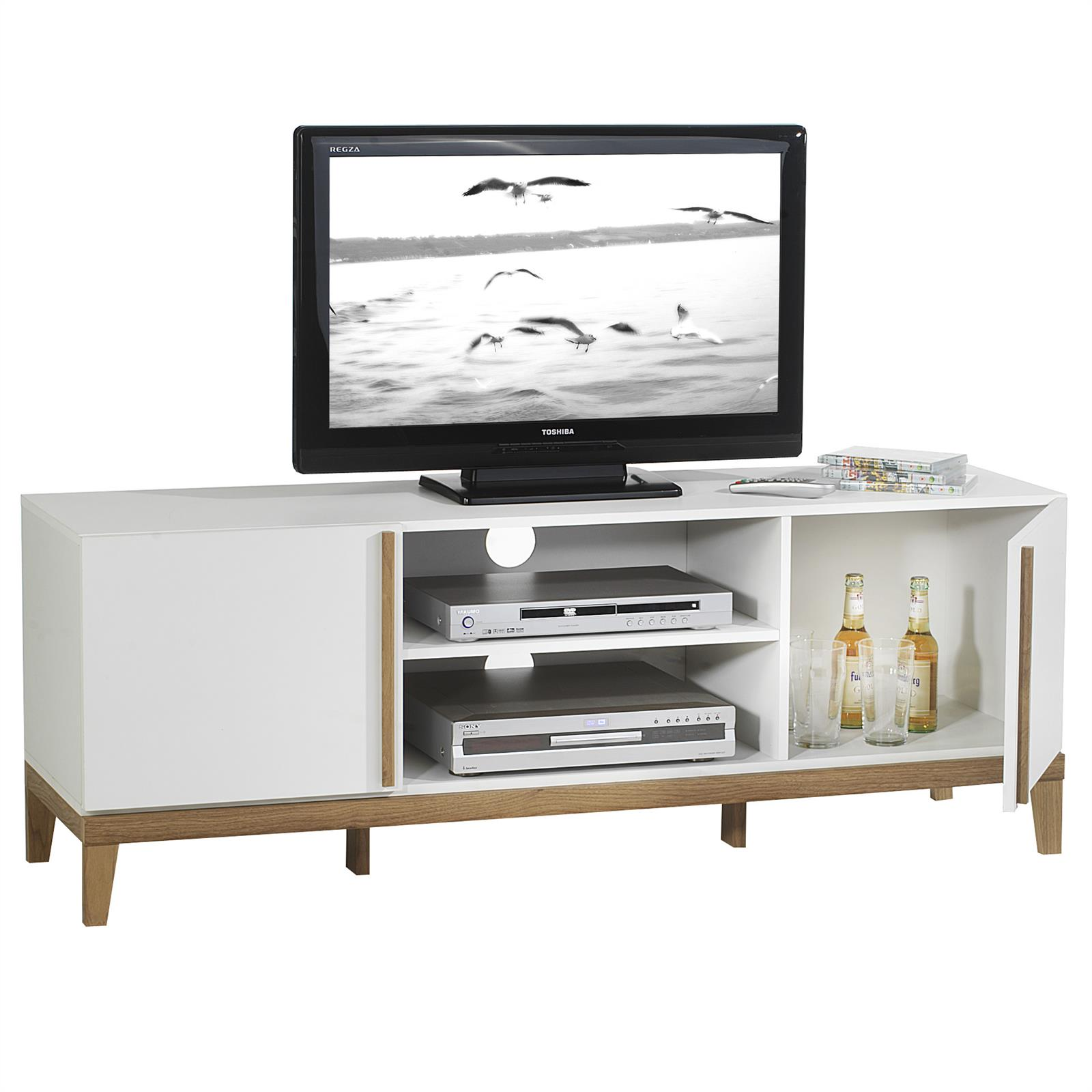 tv rack riga in wei mobilia24. Black Bedroom Furniture Sets. Home Design Ideas