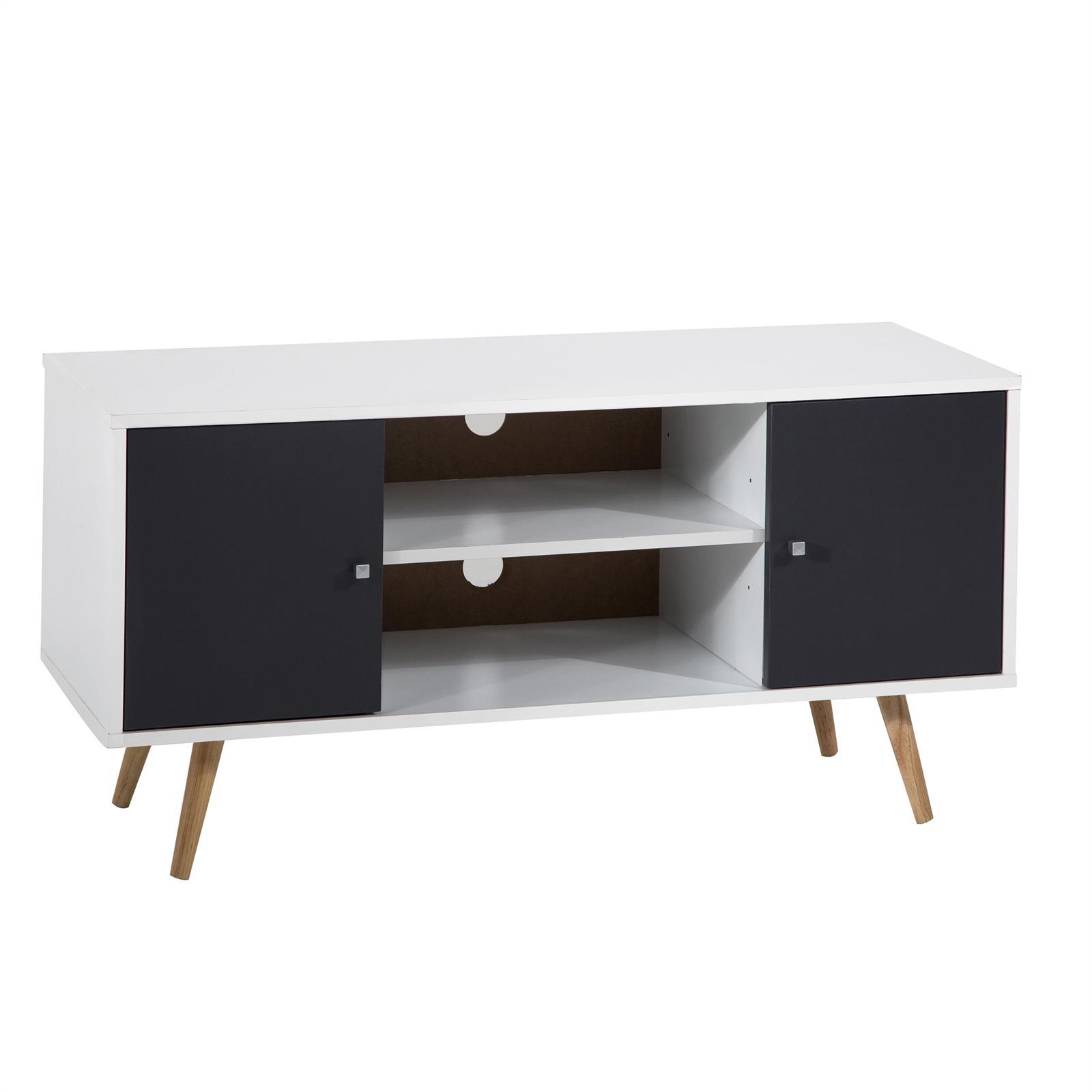 tv lowboard murica in wei grau foliert mobilia24. Black Bedroom Furniture Sets. Home Design Ideas