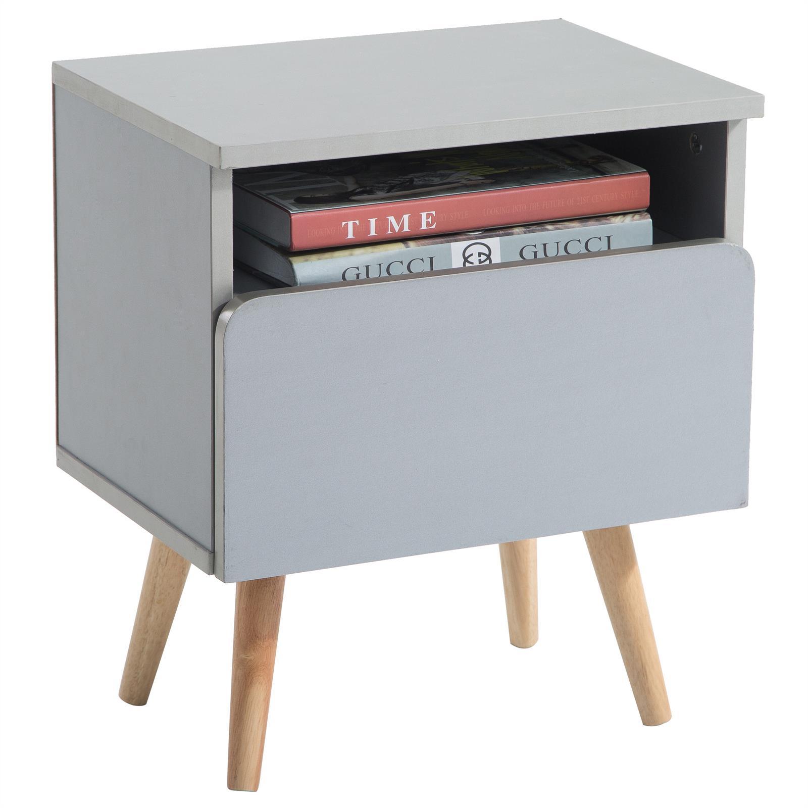 nachtkommode nachttisch nachtkonsole f r boxspringbett 1 schublade 1 ablage ebay. Black Bedroom Furniture Sets. Home Design Ideas