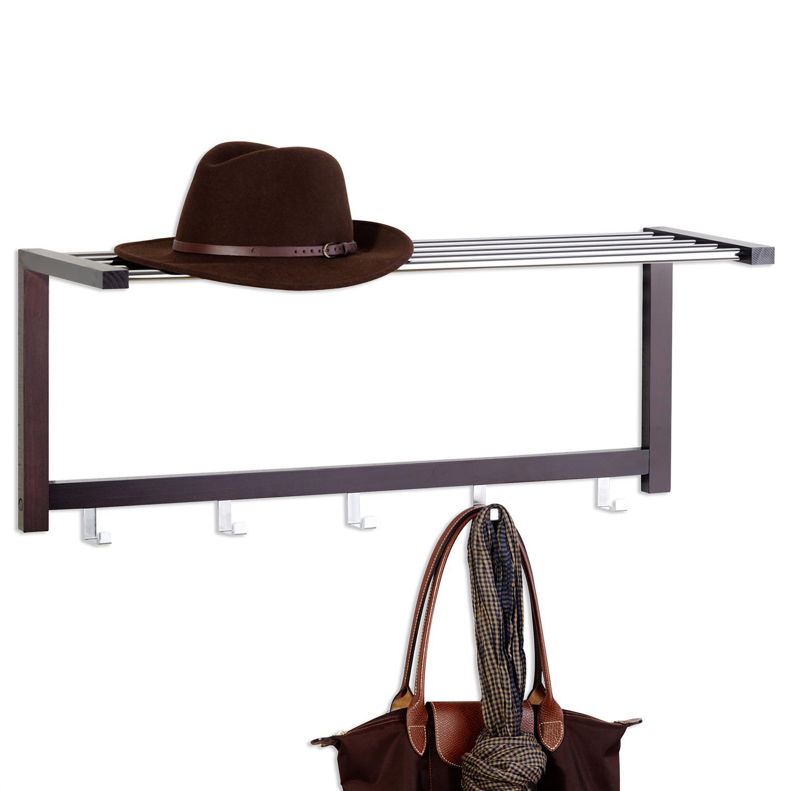 wandgarderobe armin in braun mit hutablage mobilia24. Black Bedroom Furniture Sets. Home Design Ideas