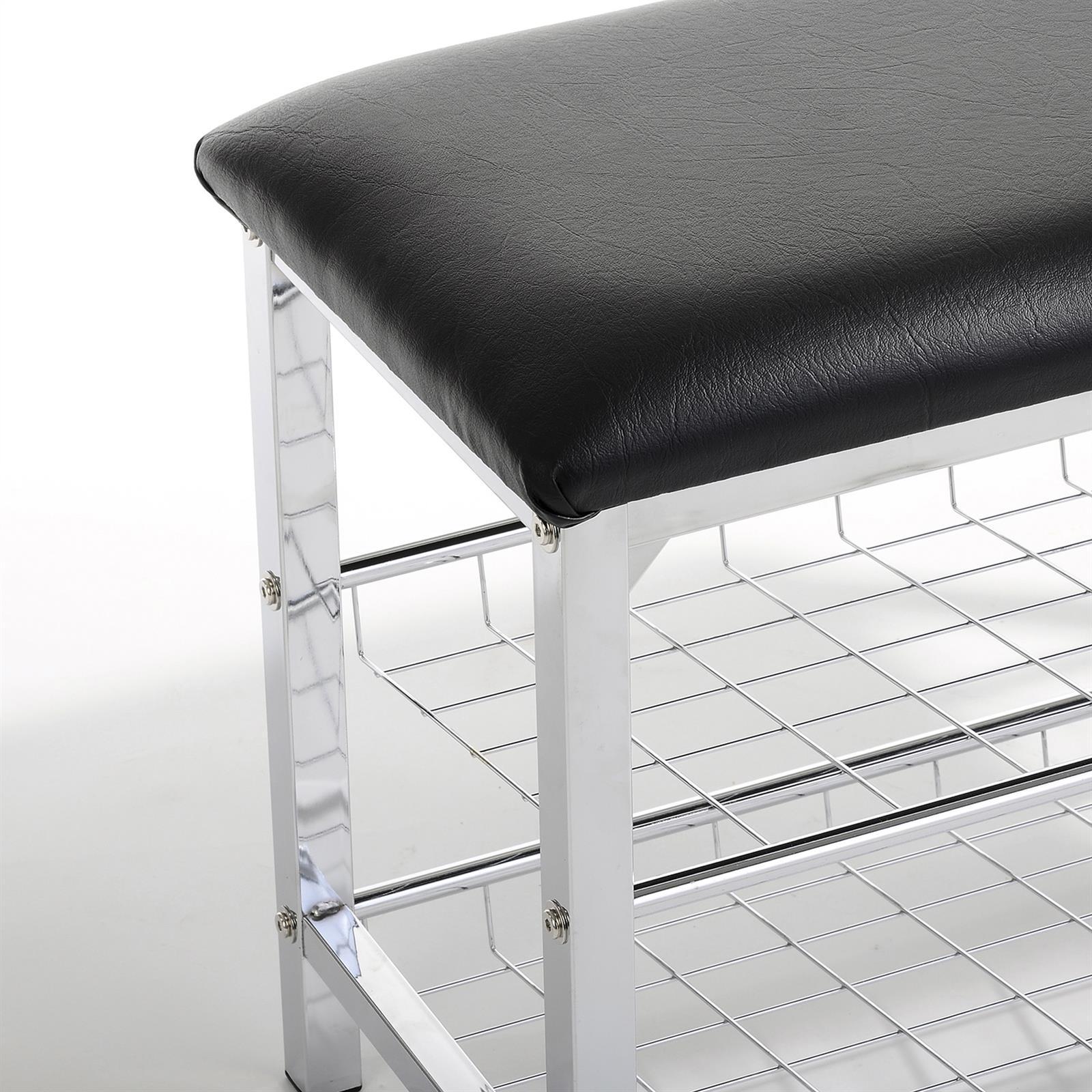 sitzbank mit schuhregal ina schwarz mobilia24. Black Bedroom Furniture Sets. Home Design Ideas