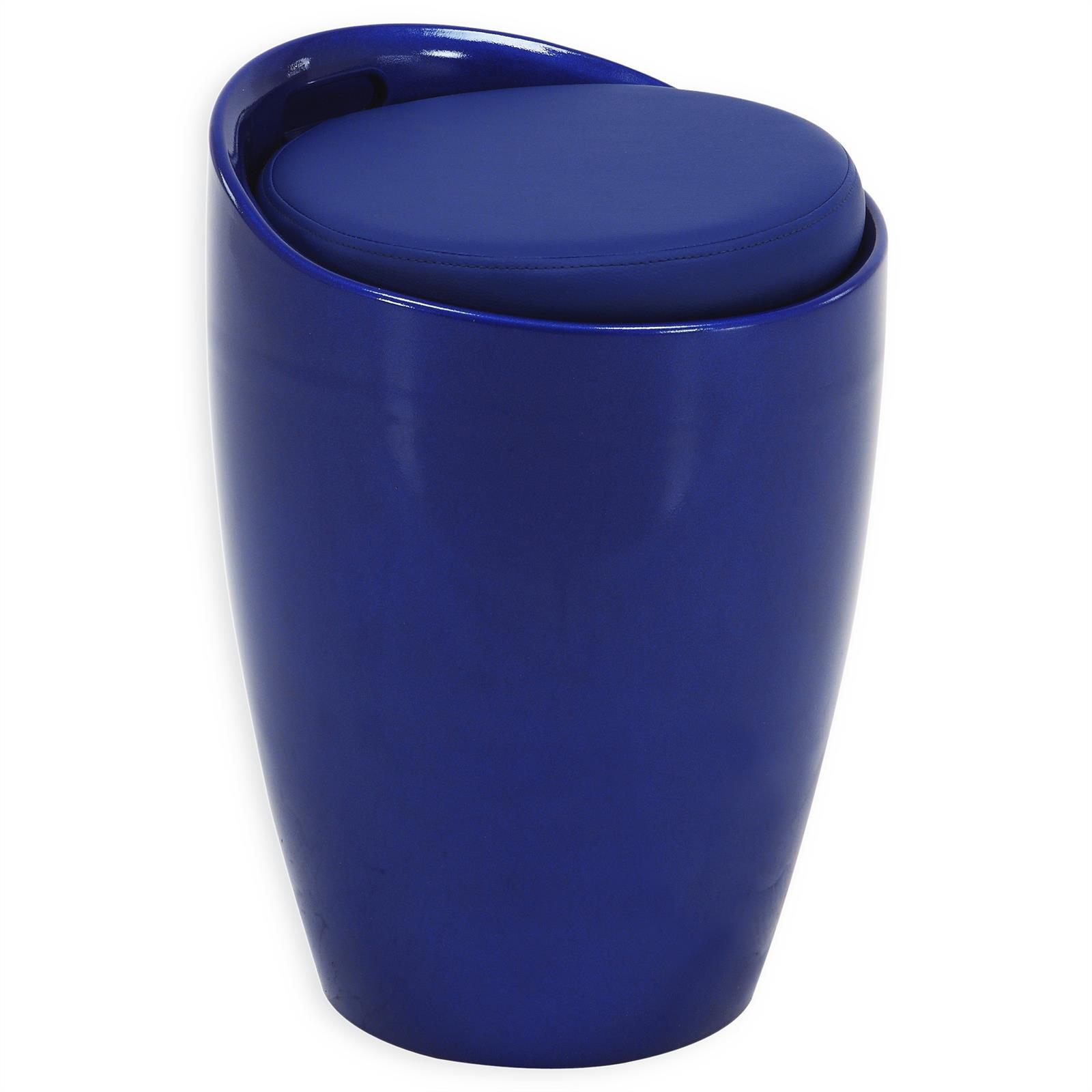 Sitzhocker daniel mit stauraum blau mobilia24 for Sitzhocker mit stauraum
