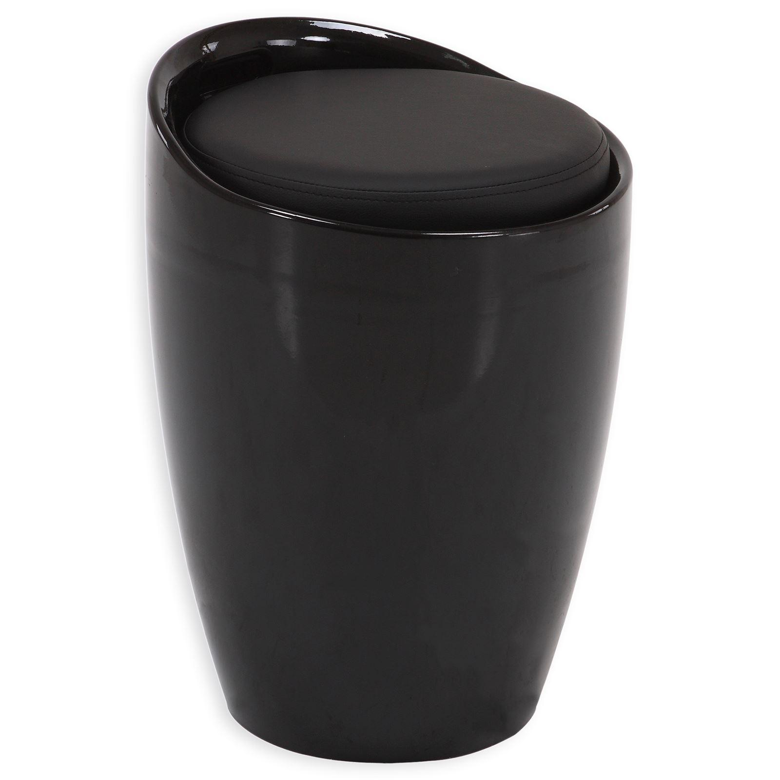 sitzhocker daniel mit stauraum schwarz mobilia24. Black Bedroom Furniture Sets. Home Design Ideas