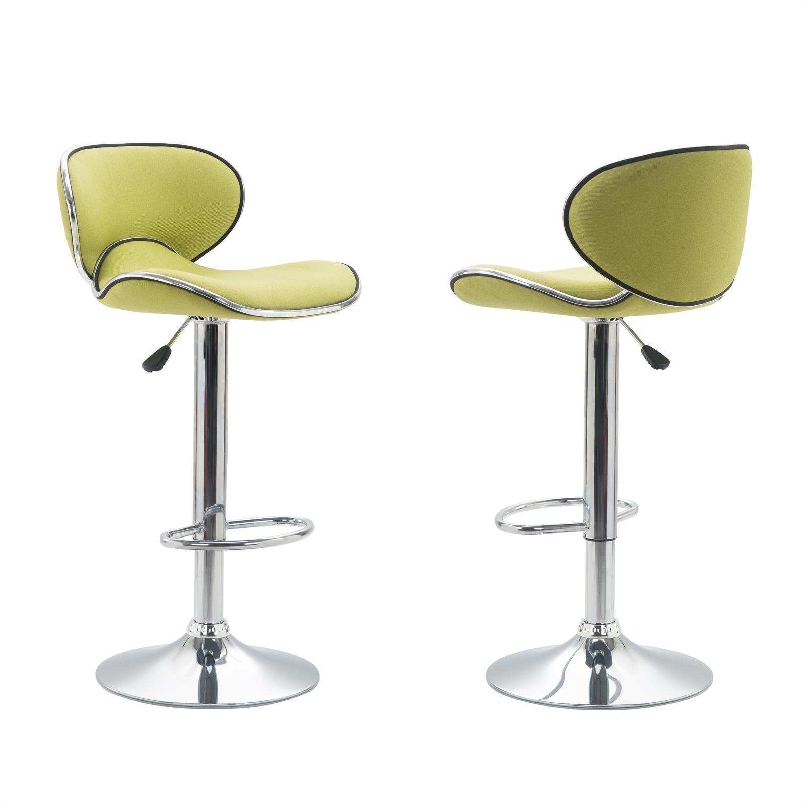 Barhocker lounge mit stoffbezug gr n im 2er pack mobilia24 for Barhocker stoffbezug