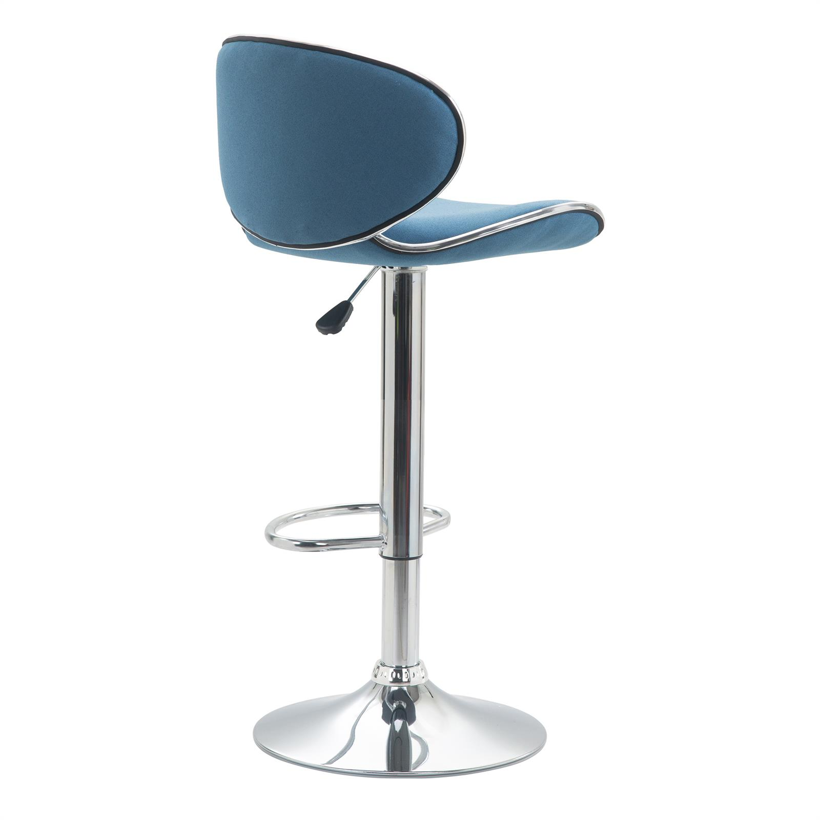 Barhocker lounge mit stoffbezug blau im 2er pack mobilia24 for Barhocker lounge