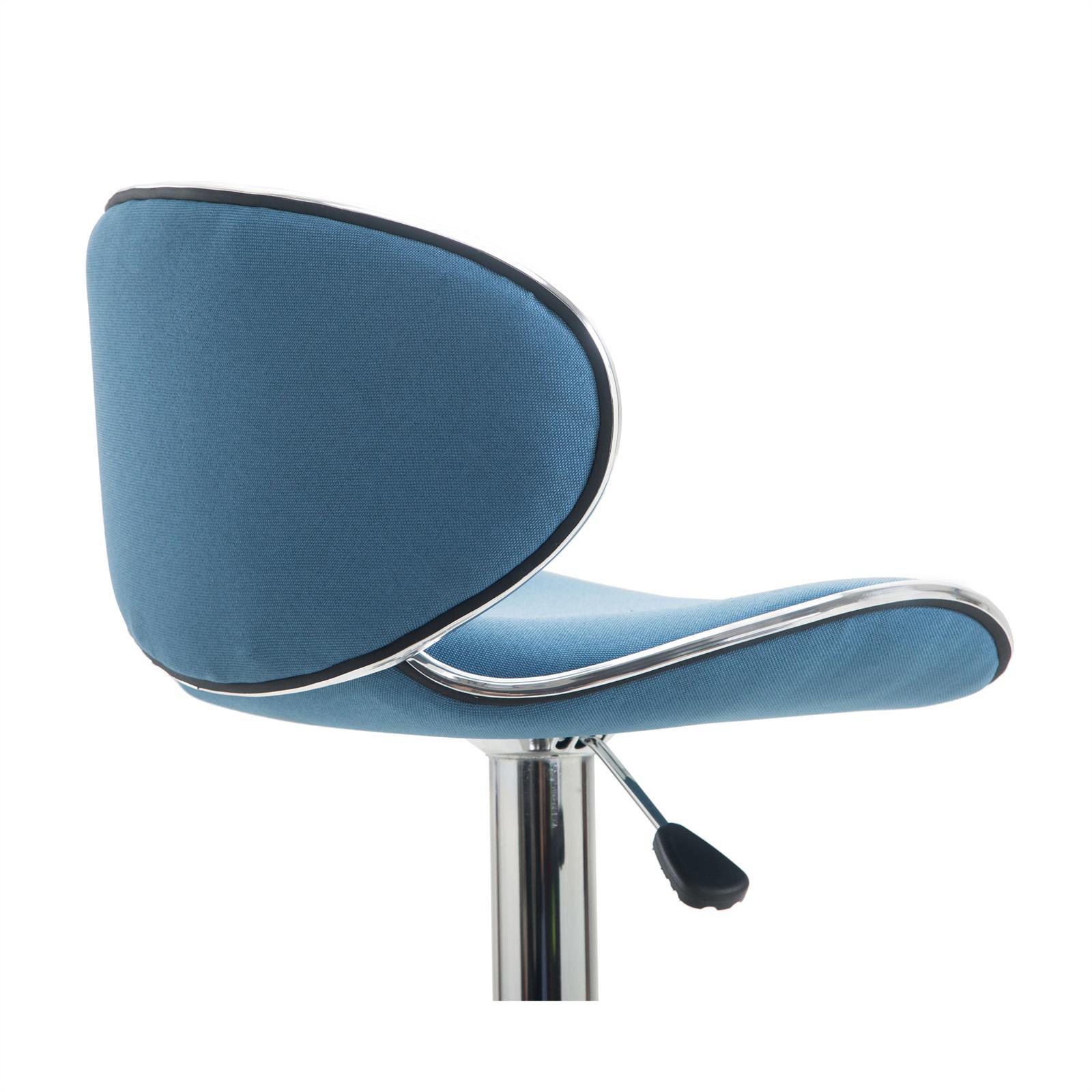 Barhocker lounge mit stoffbezug blau im 2er pack mobilia24 for Barhocker stoffbezug