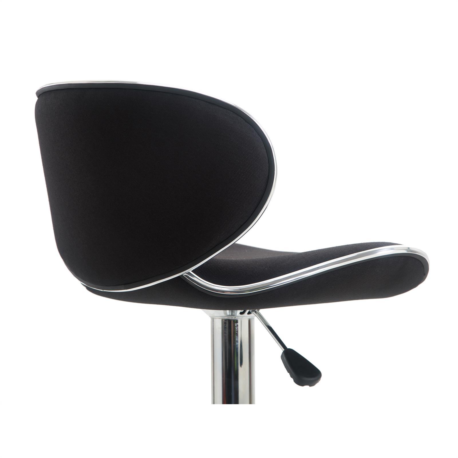 Barhocker lounge mit stoffbezug schwarz im 2er pack for Barhocker stoffbezug