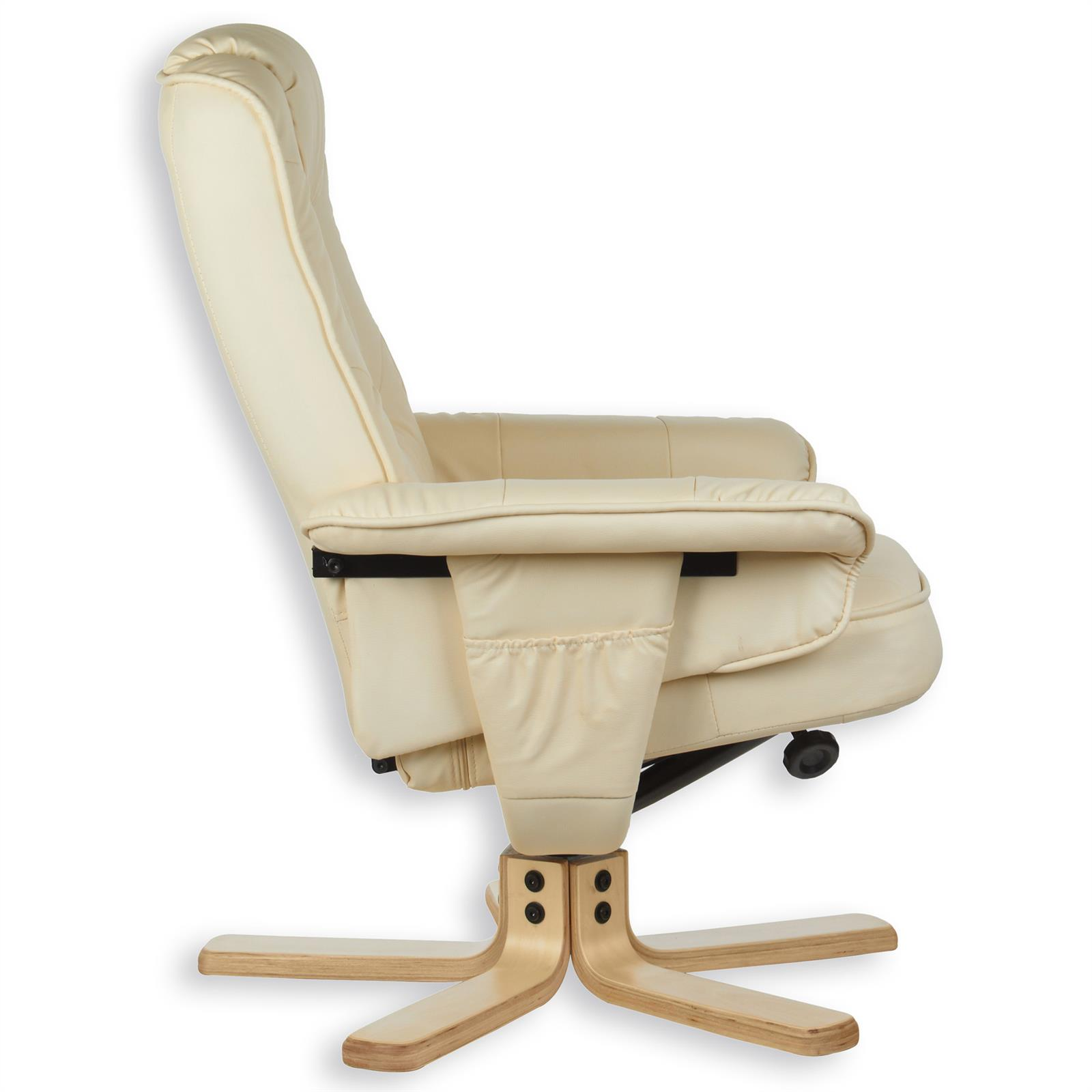 Relaxsessel mit hocker charly polstersessel in beige for Relaxsessel mit hocker microfaser