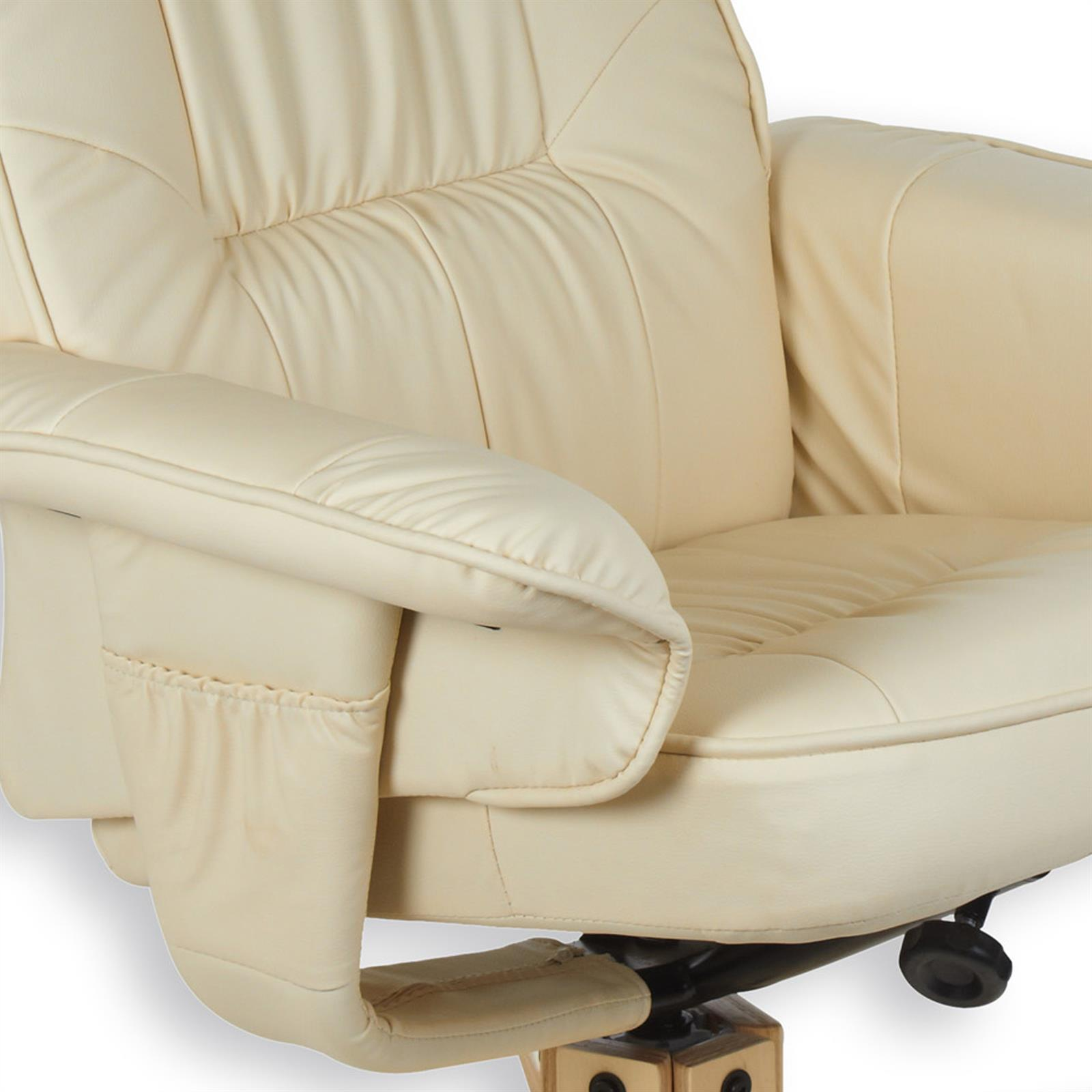 Relaxsessel mit hocker charly polstersessel in beige for Sessel charly