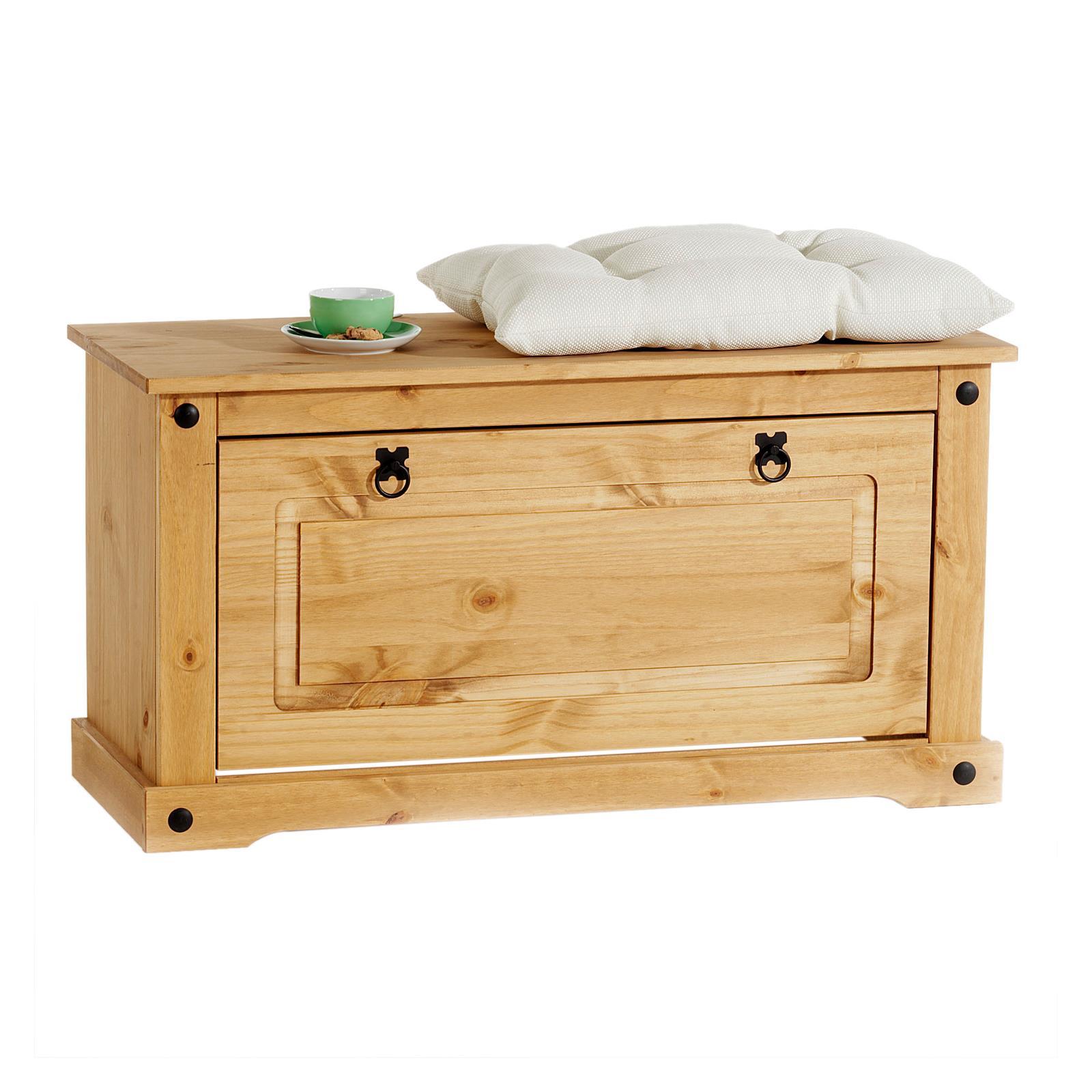 mexico m bel schuhbank tequila kiefer massiv mobilia24. Black Bedroom Furniture Sets. Home Design Ideas