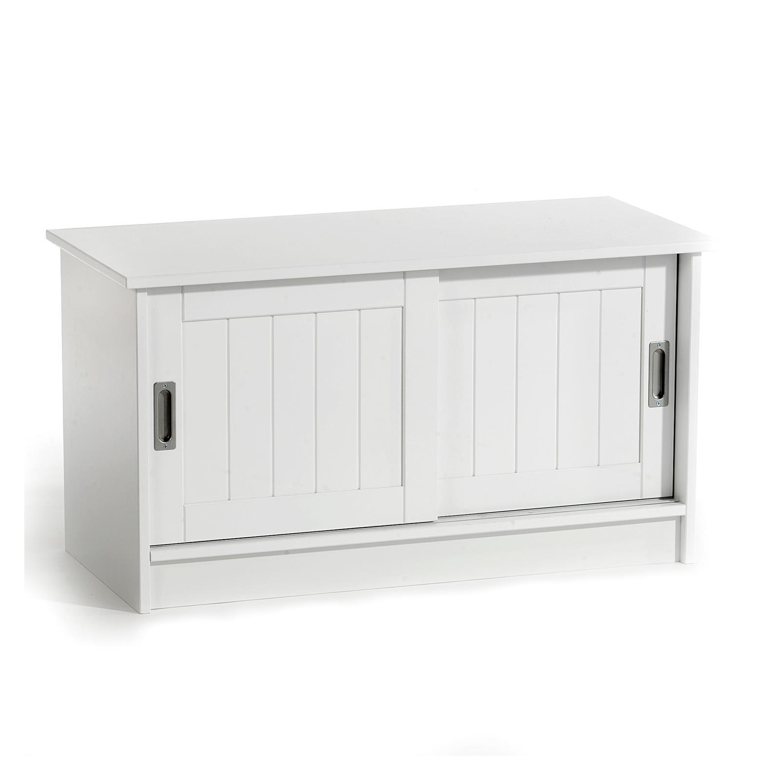 sitzbank hein in wei mit 2 schiebet ren mobilia24. Black Bedroom Furniture Sets. Home Design Ideas