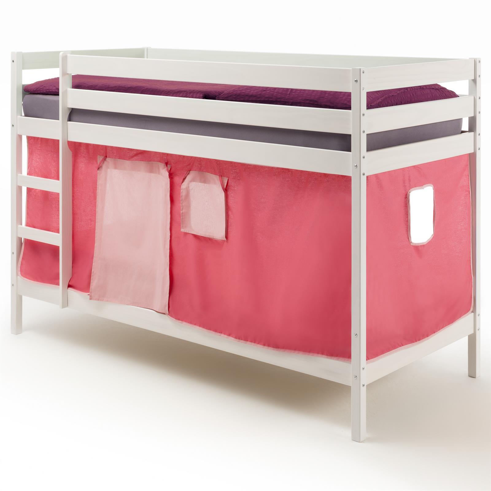 etagenbett felix in kiefer massiv wei mobilia24. Black Bedroom Furniture Sets. Home Design Ideas