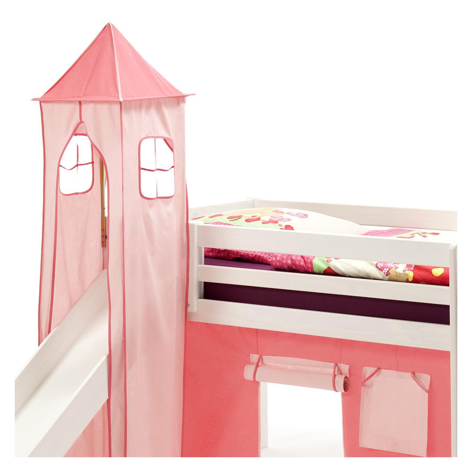 turm max zu bett mit rutsche pink rosa mobilia24. Black Bedroom Furniture Sets. Home Design Ideas