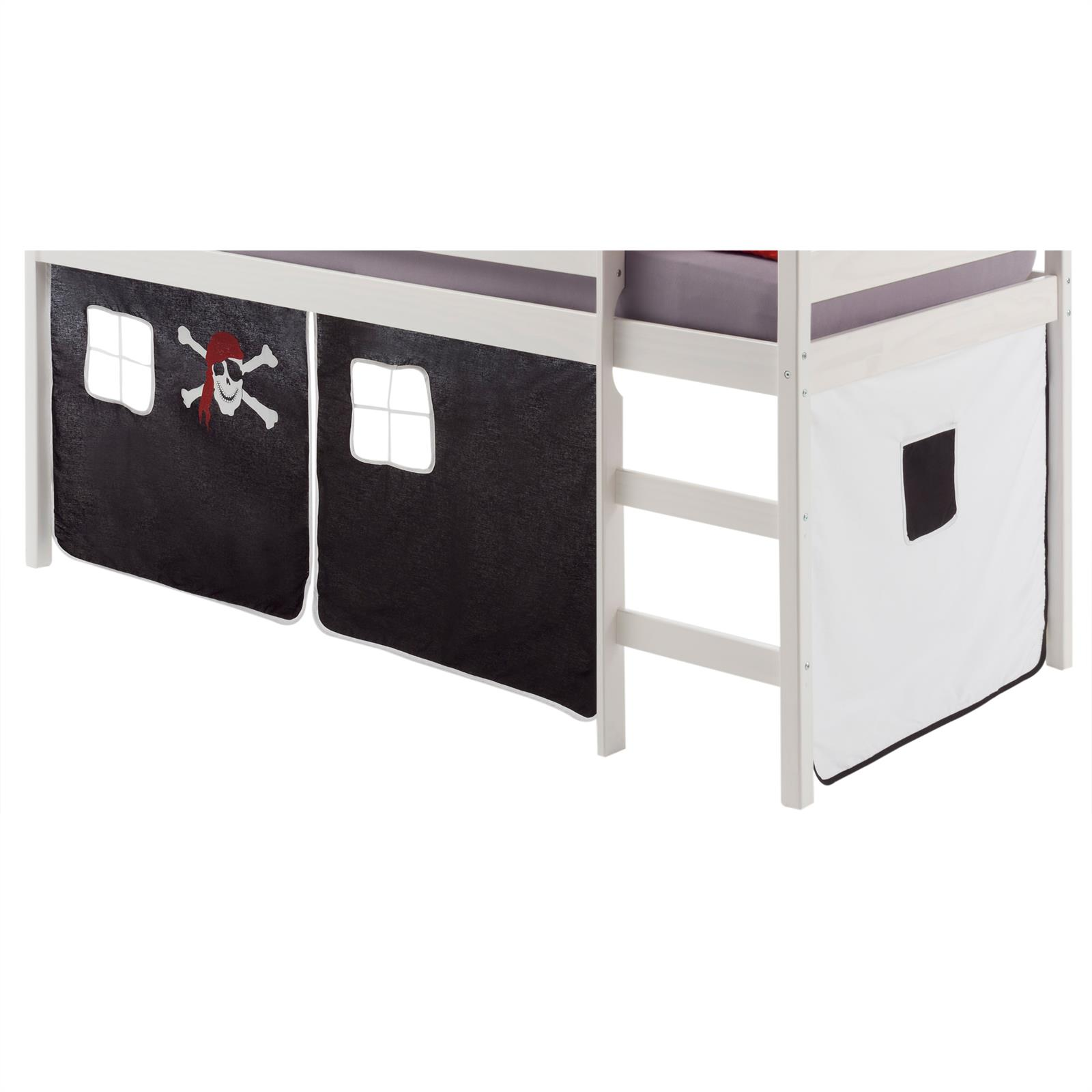 vorhang classic in schwarz weiss pirat mobilia24. Black Bedroom Furniture Sets. Home Design Ideas
