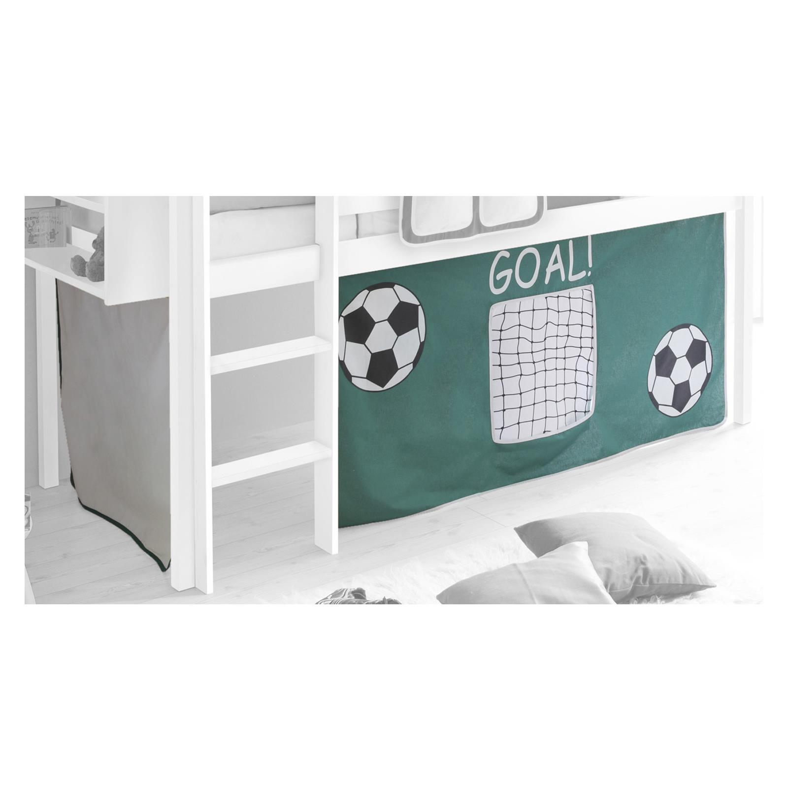 vorhang goal mit fussball motiv mobilia24. Black Bedroom Furniture Sets. Home Design Ideas