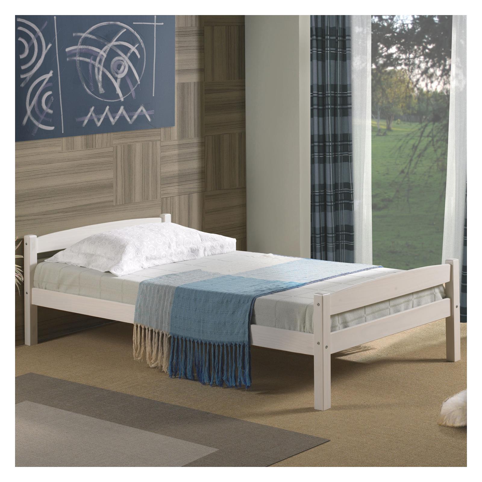 einzelbett felix 90x190 cm kiefer wei mobilia24. Black Bedroom Furniture Sets. Home Design Ideas