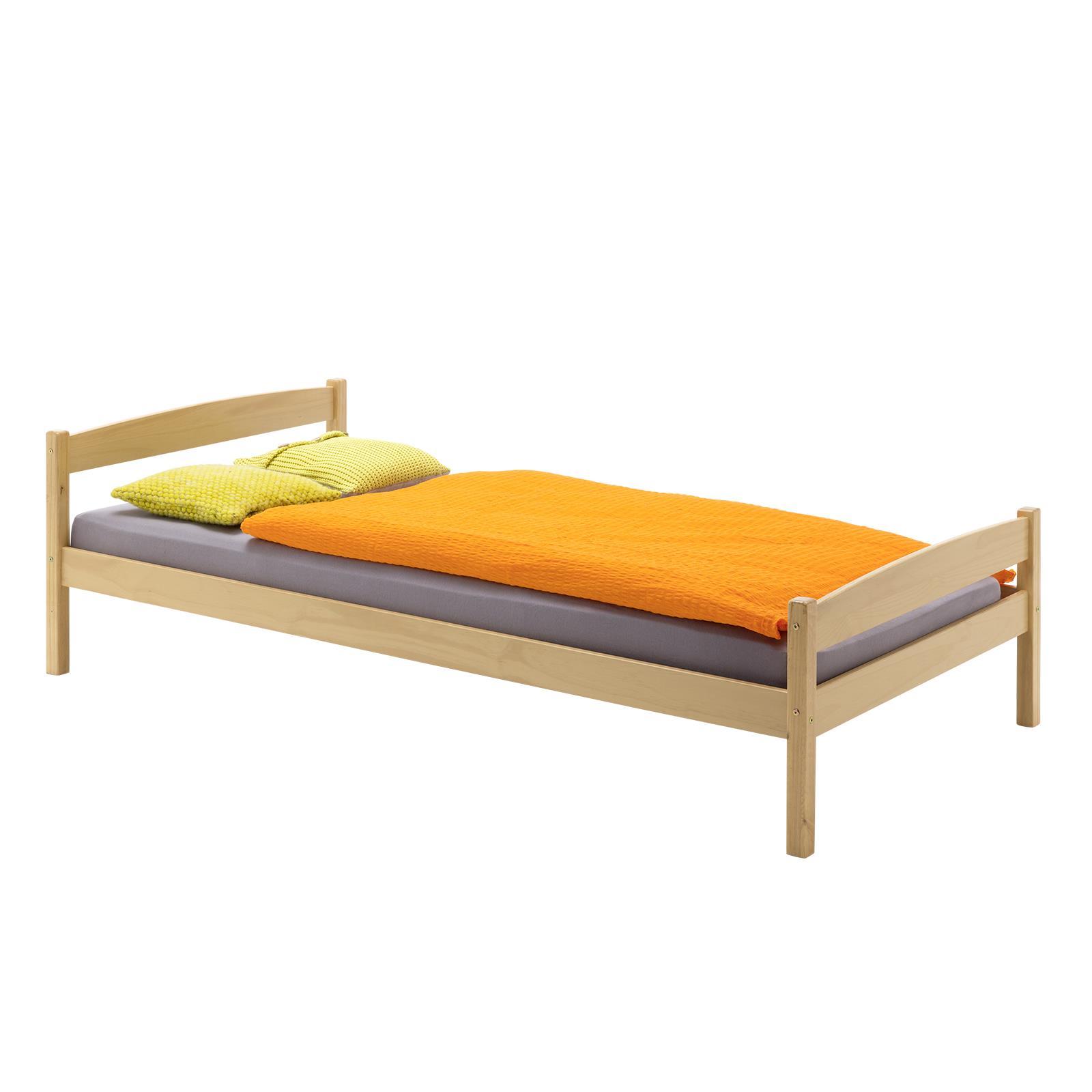 jugendbett kinderbett kiefer natur 90 x 200 cm ebay. Black Bedroom Furniture Sets. Home Design Ideas