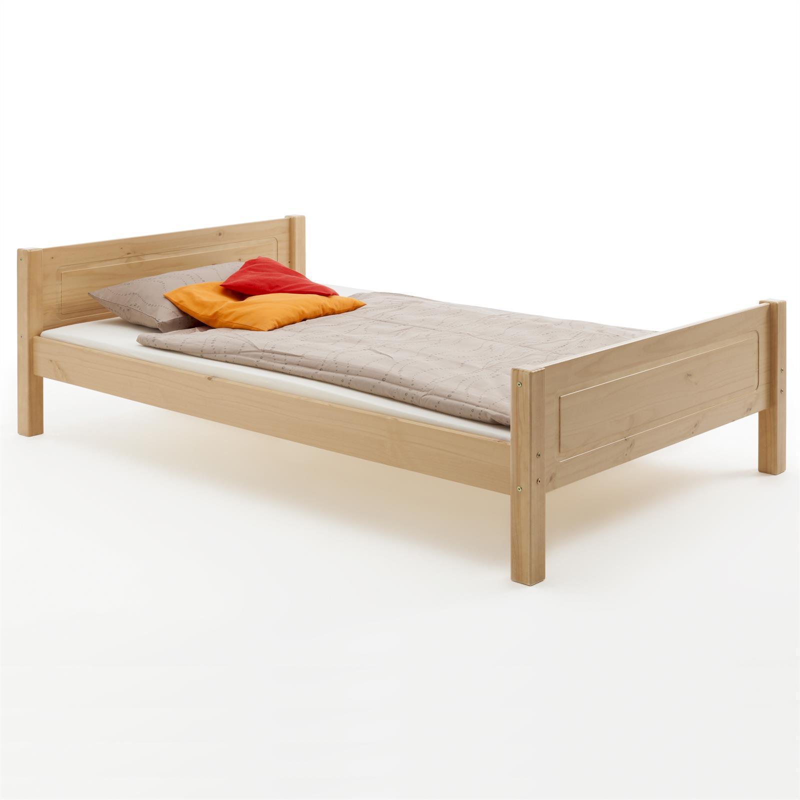 Holzbett einzelbett doppelbett landhausbett kiefer in 4 for Einzelbett 140x200