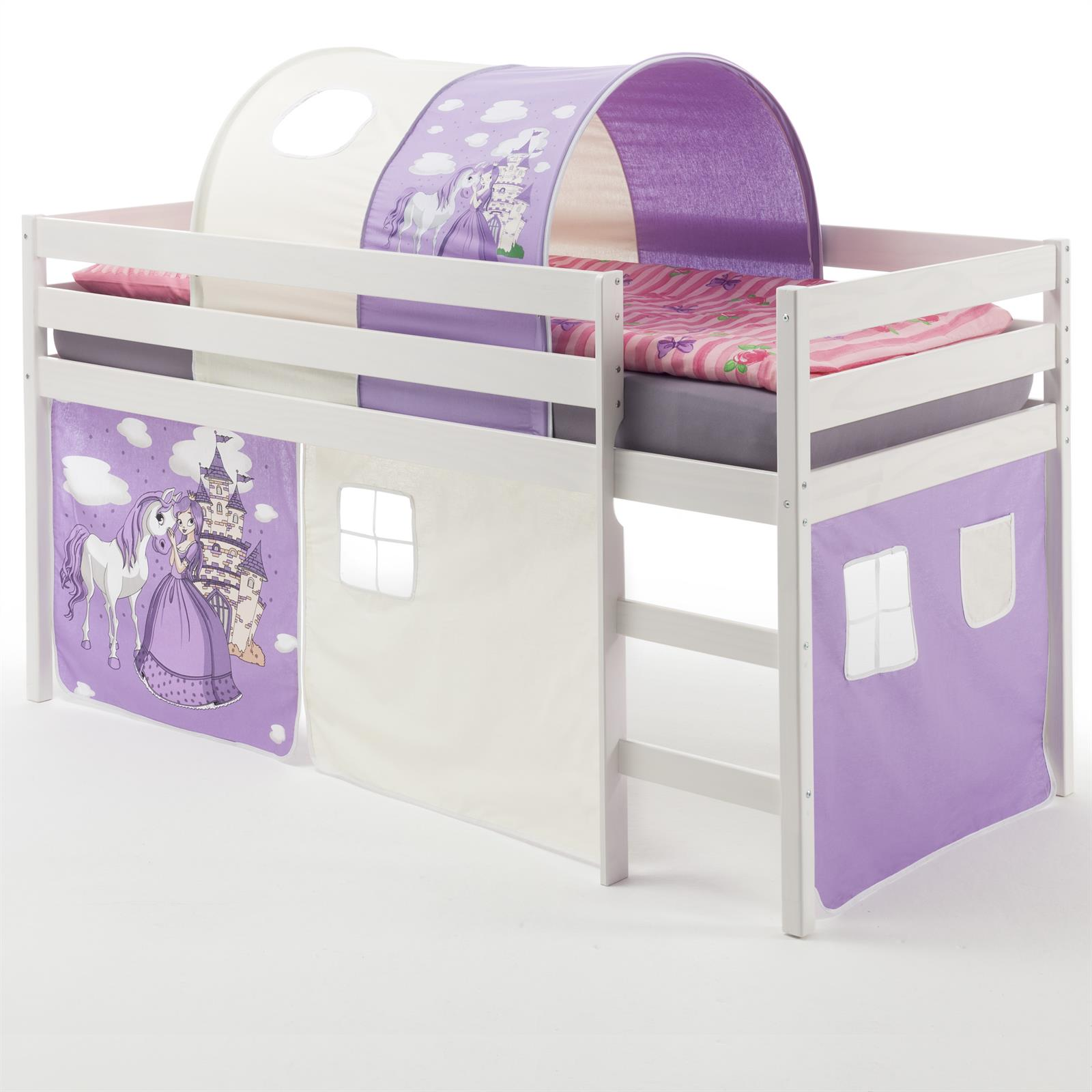 hochbett erik vorhang tunnel prinzessin mobilia24. Black Bedroom Furniture Sets. Home Design Ideas