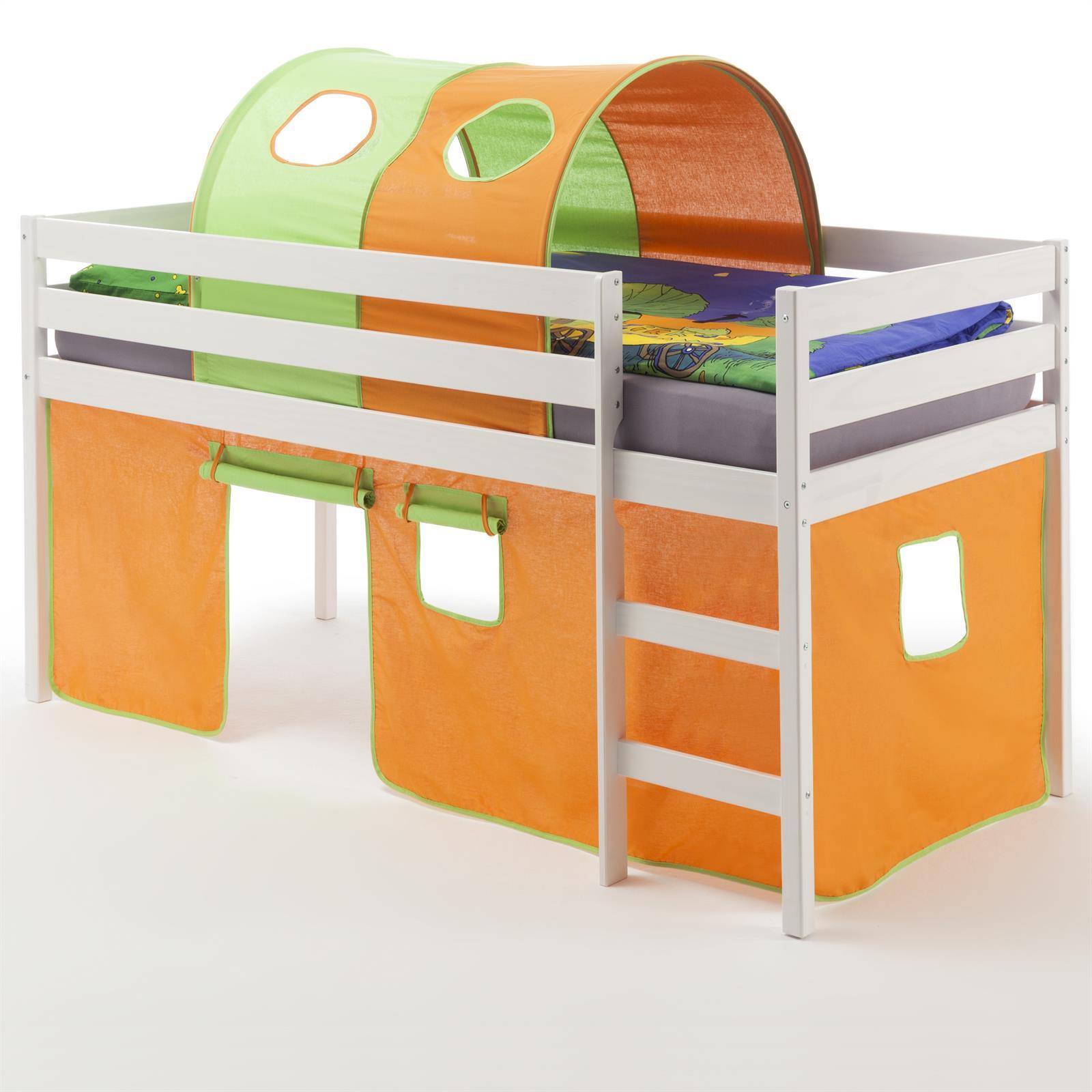 hochbett erik vorhang tunnel orange gr n mobilia24. Black Bedroom Furniture Sets. Home Design Ideas