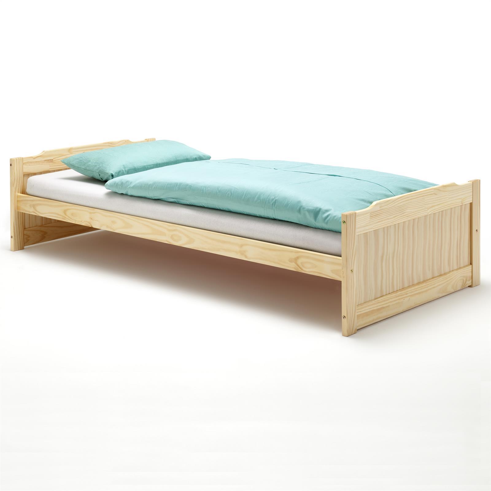 einzelbett fritz 90x200 cm in natur mobilia24. Black Bedroom Furniture Sets. Home Design Ideas