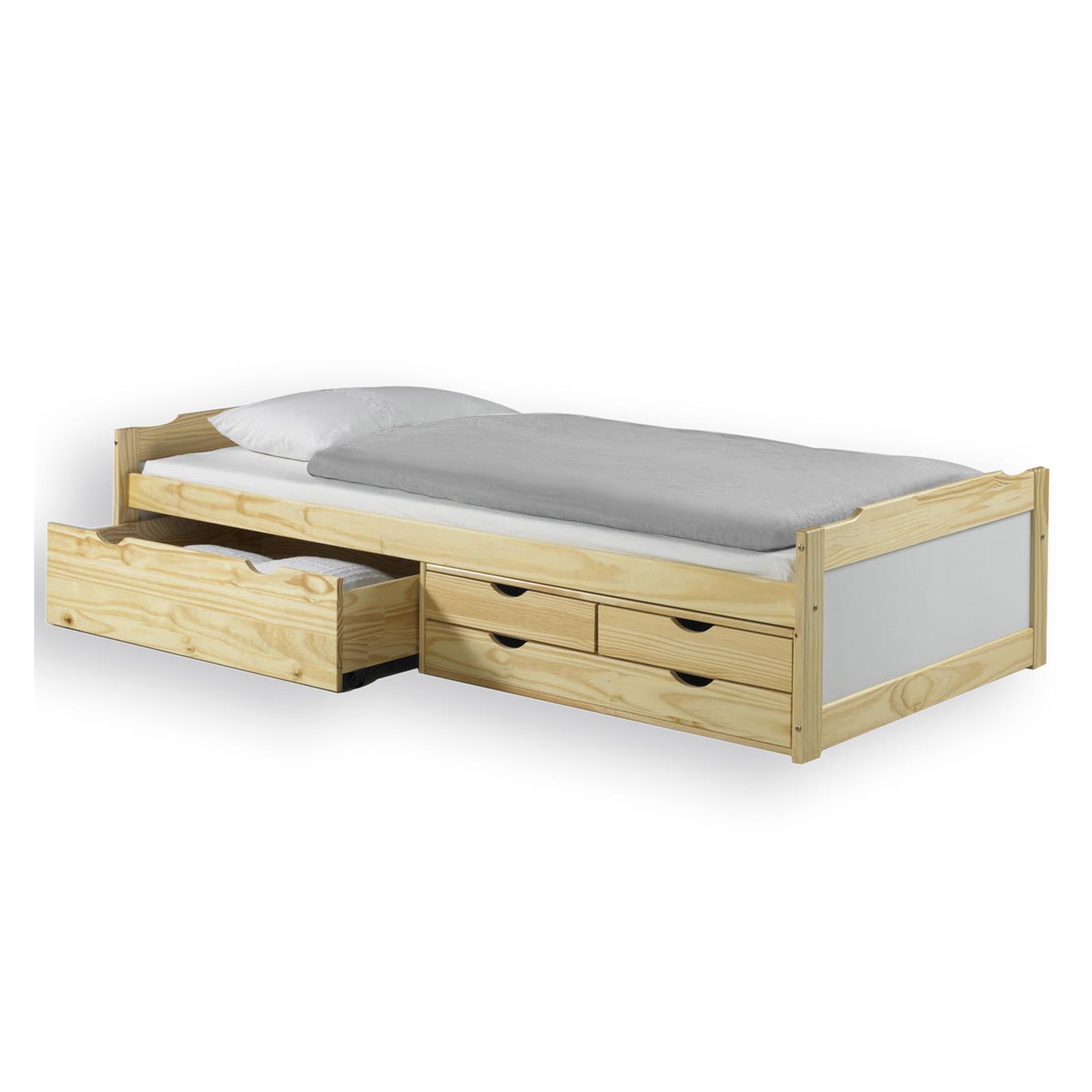 jugendbett funktionsbett kinder g ste einzel auszugs bett 4 schubladen 90x200 cm ebay. Black Bedroom Furniture Sets. Home Design Ideas