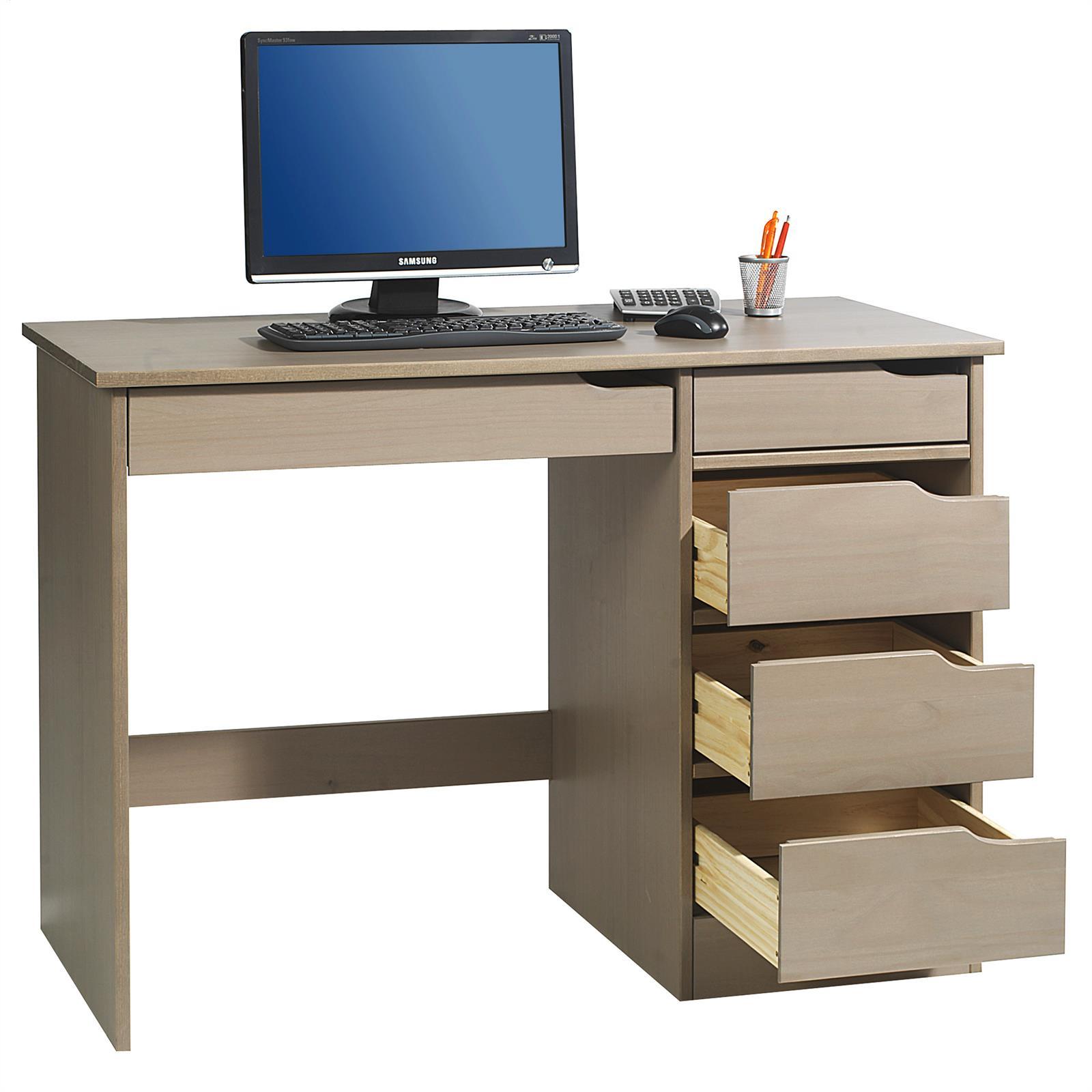 schreibtisch hugo in kiefer massiv taupe mobilia24. Black Bedroom Furniture Sets. Home Design Ideas