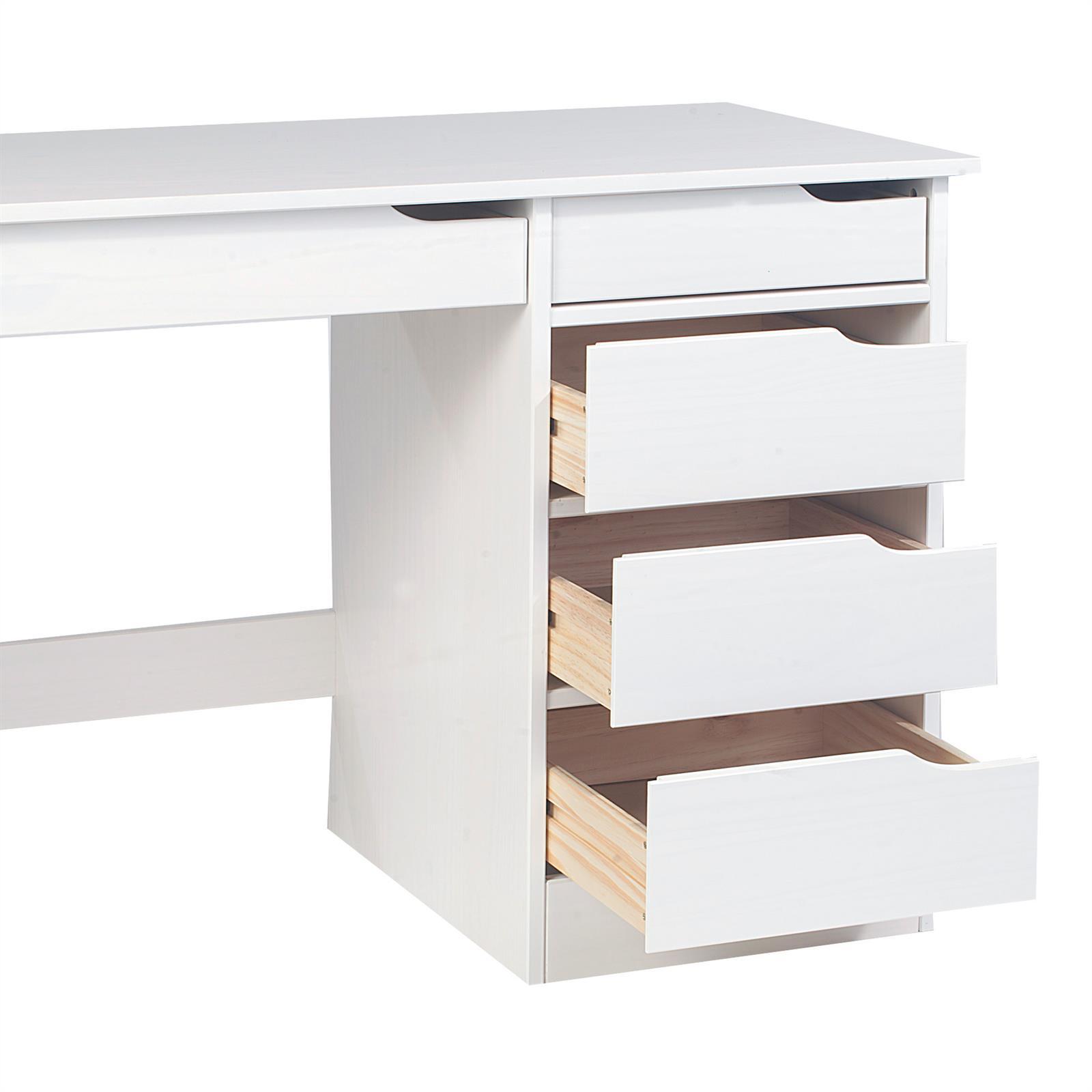 schreibtisch hugo in kiefer massiv wei mobilia24. Black Bedroom Furniture Sets. Home Design Ideas