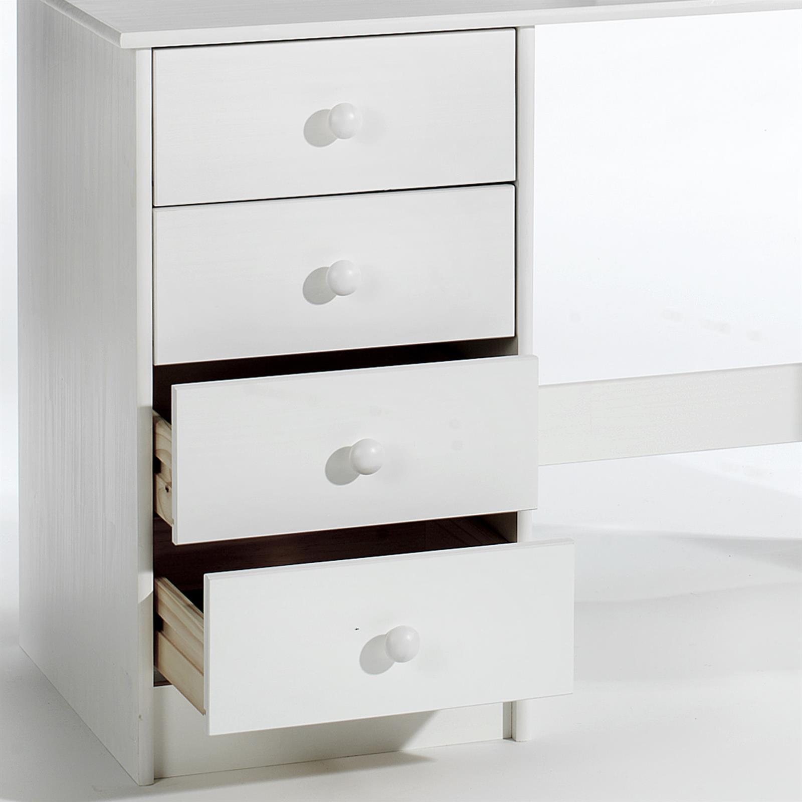 Schreibtisch arne kiefer massiv in wei mobilia24 for Schreibtisch in kiefer