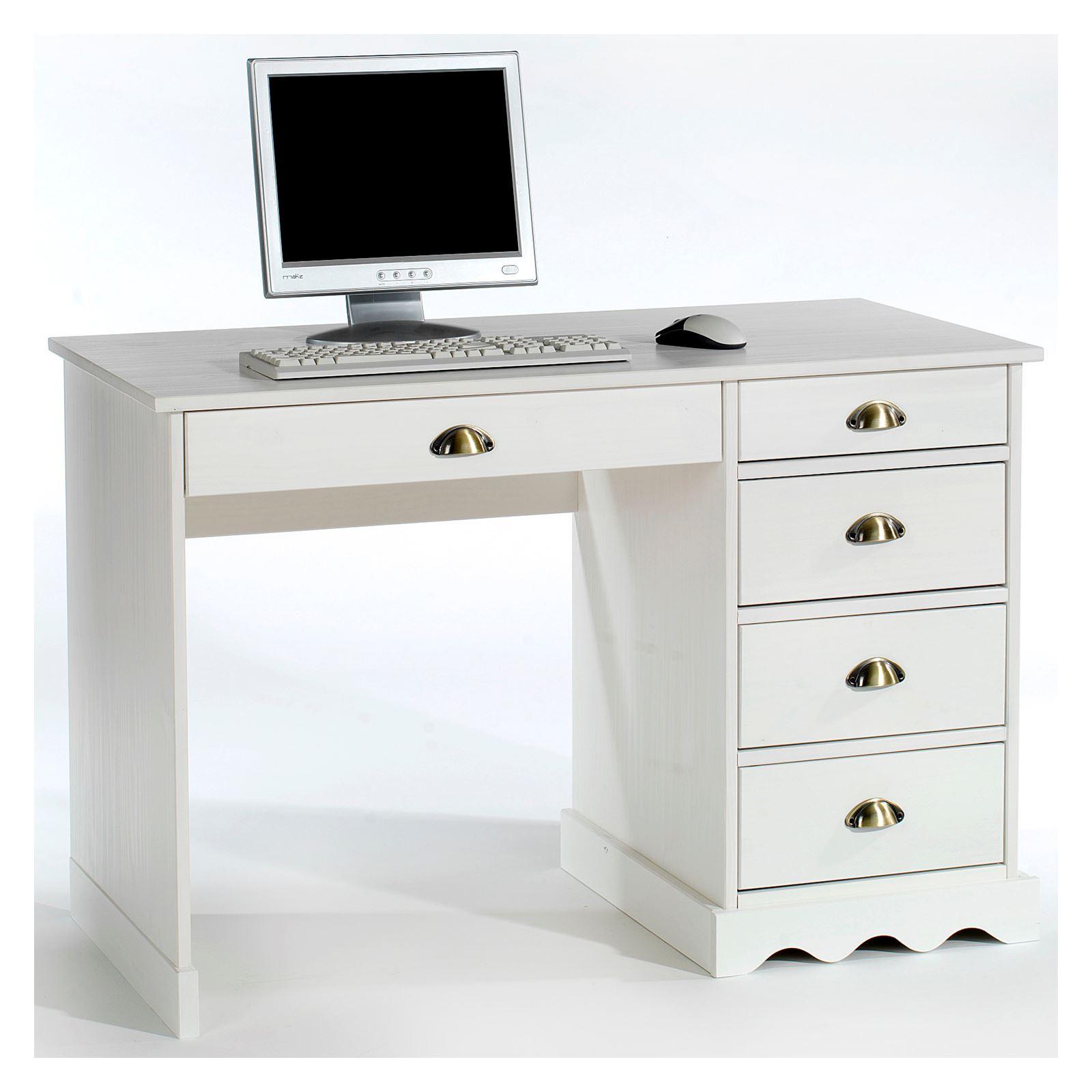 schreibtisch colette in der farbe wei mobilia24. Black Bedroom Furniture Sets. Home Design Ideas