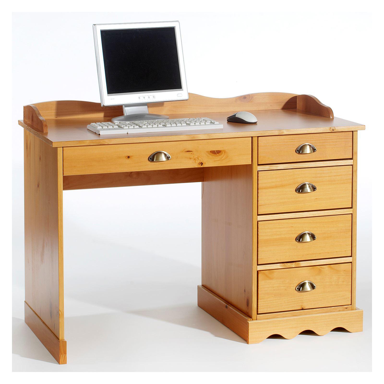 schreibtisch colette m aufsatz honigfarben mobilia24. Black Bedroom Furniture Sets. Home Design Ideas