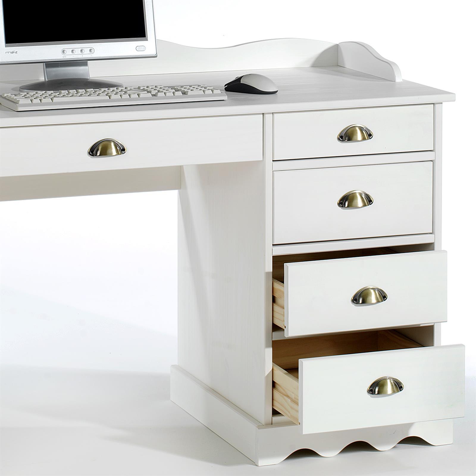 schreibtisch colette mit aufsatz in wei mobilia24. Black Bedroom Furniture Sets. Home Design Ideas