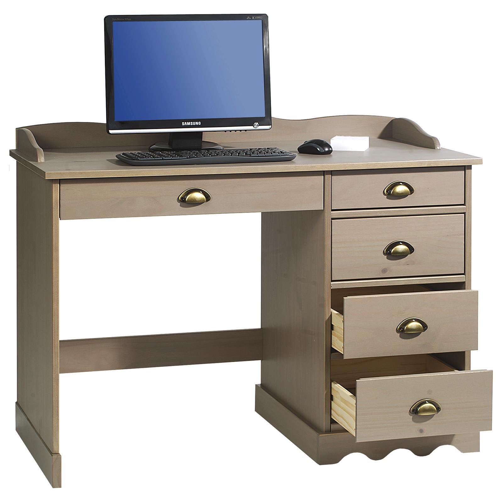 schreibtisch colette mit aufsatz in taupe mobilia24. Black Bedroom Furniture Sets. Home Design Ideas